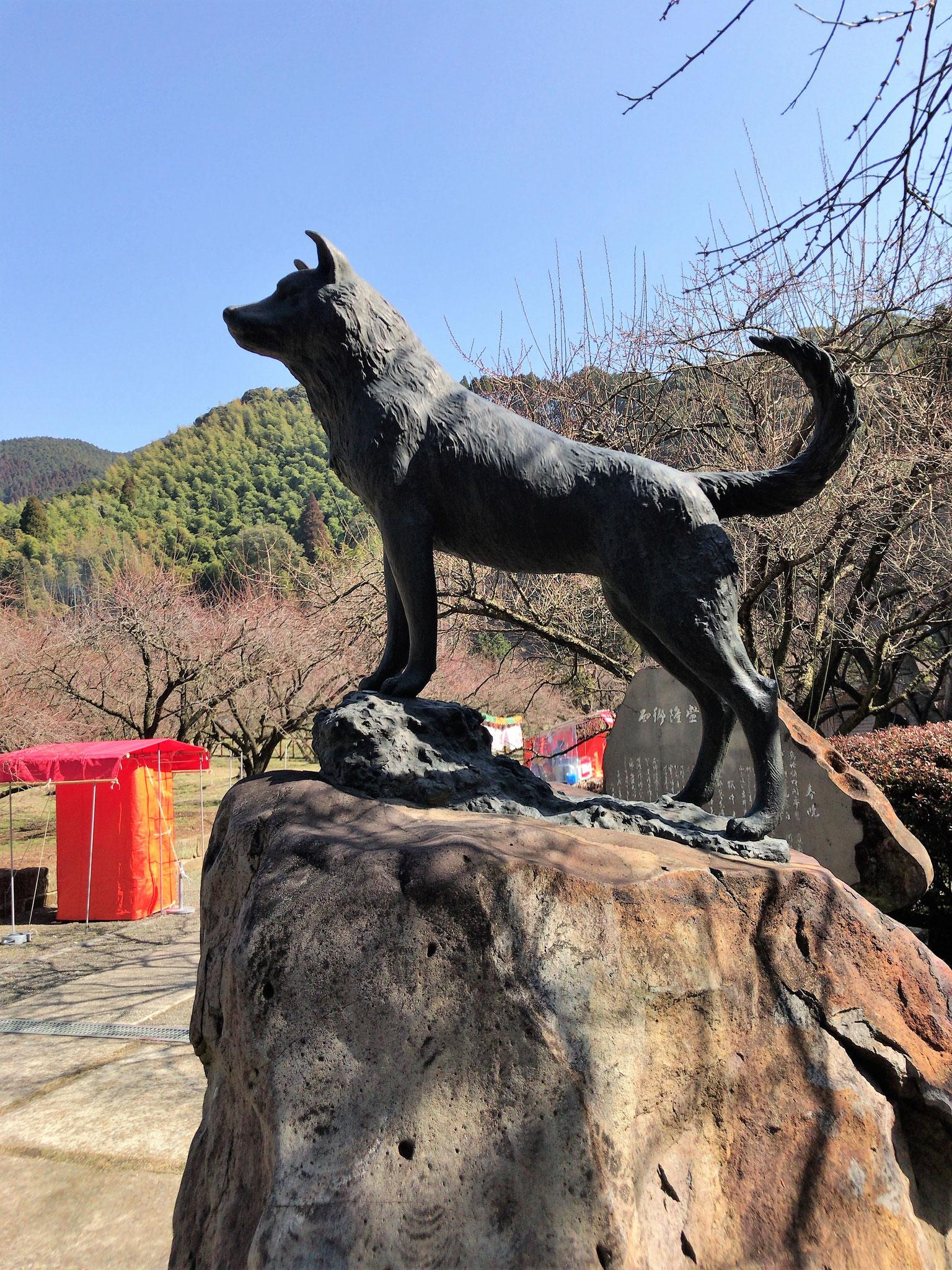 西郷ドンの愛犬ツン銅像(薩摩川内市)
