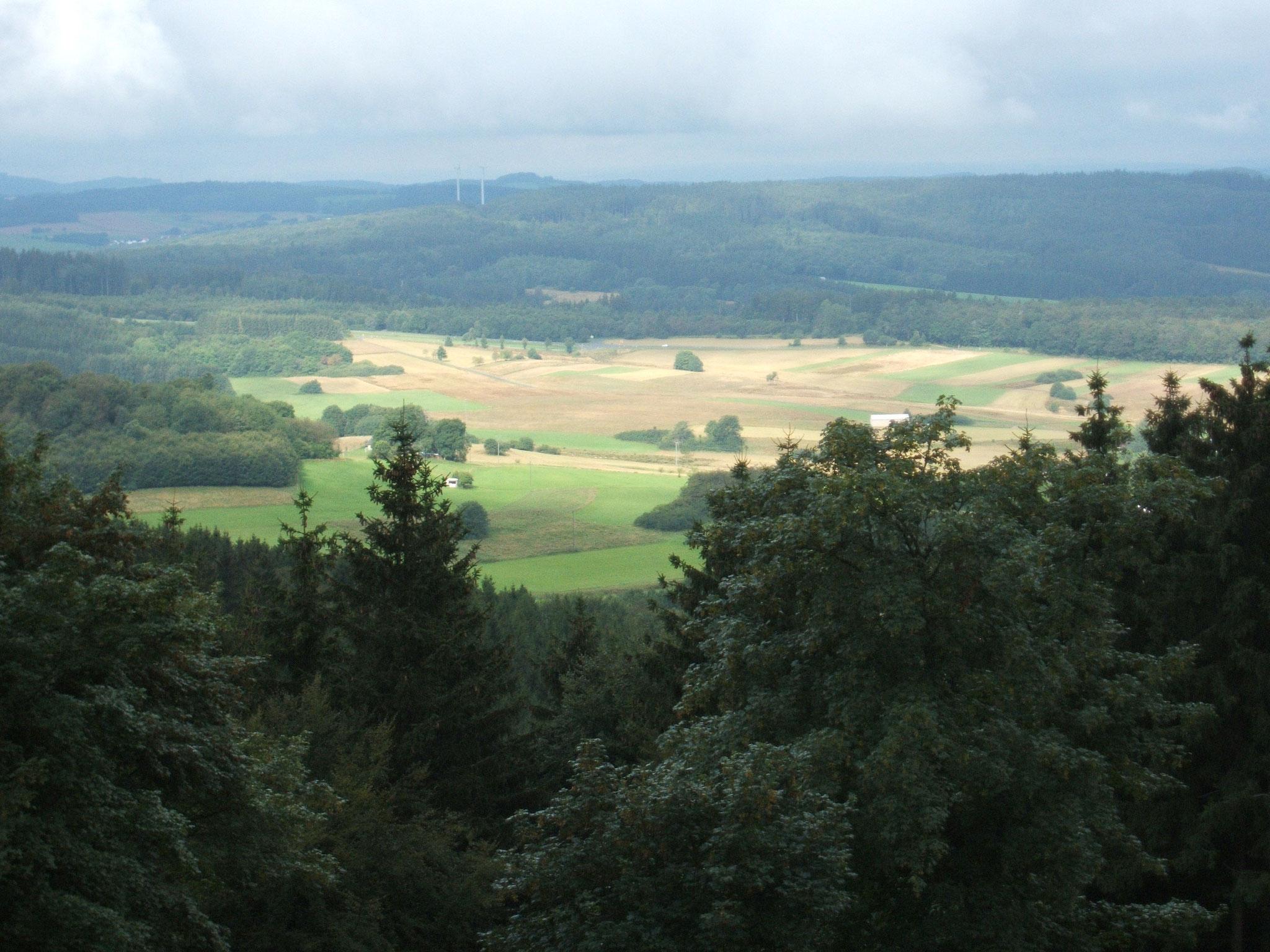 Blick vom Hochkelberg bei Mosbruch in das Kelberger Land