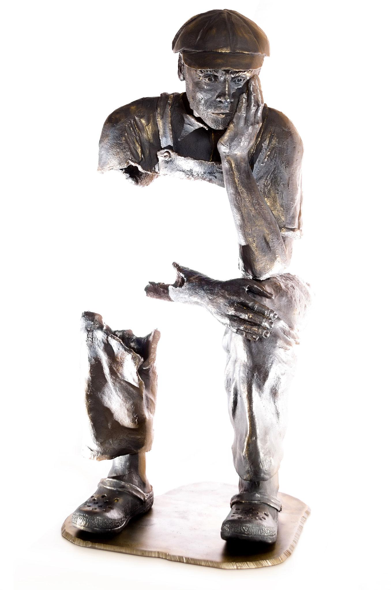 Der Denker 2016, Steinzeug, Höhe 122cm