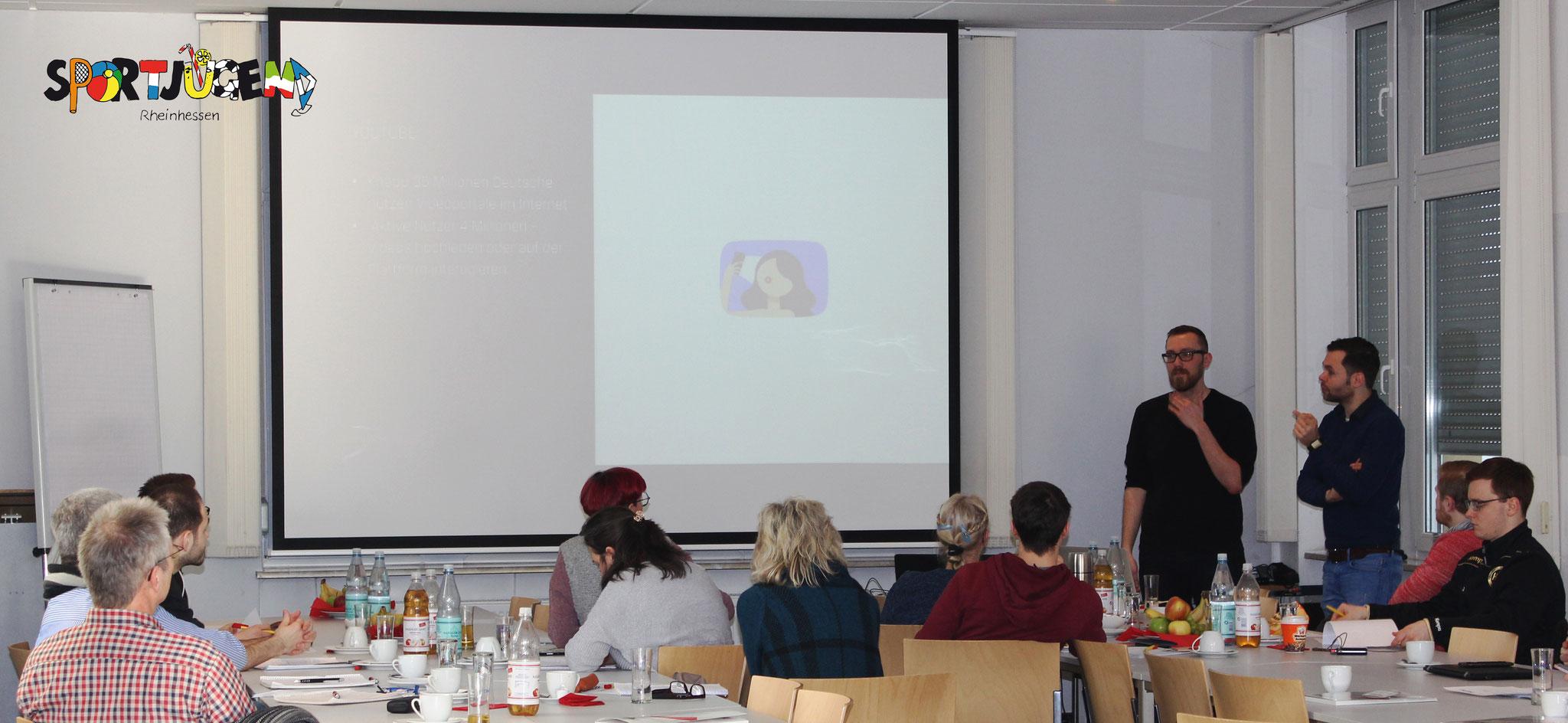 Christian und Christoph von ZDFdigital gaben einen Überblick über die verschiedenen Sozialen Netzwerke