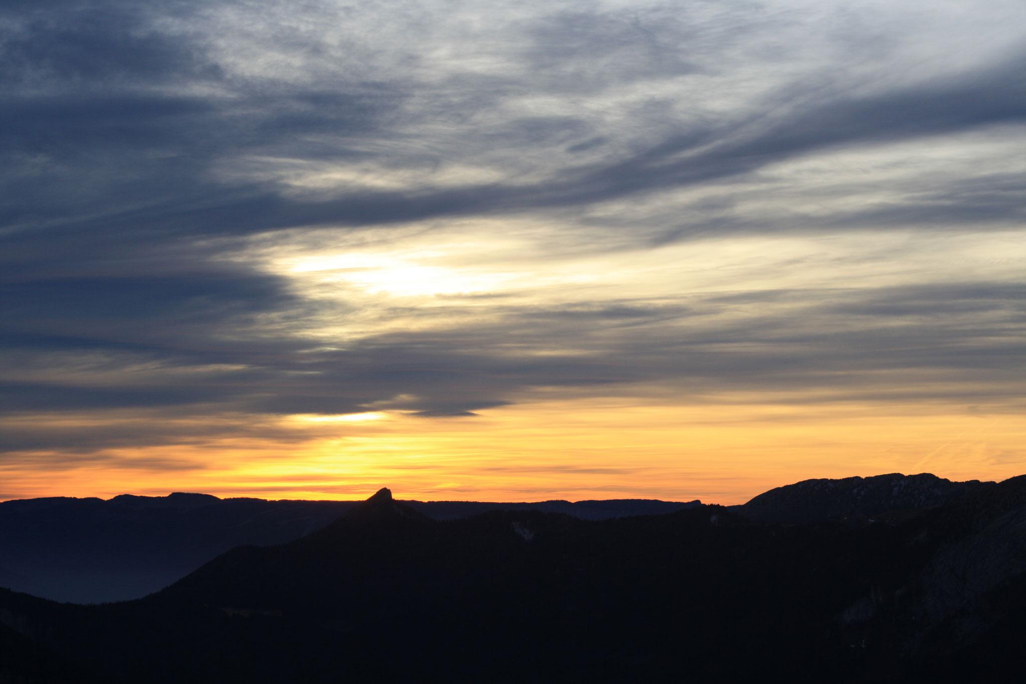 coucher de soleil sur la Pinéa