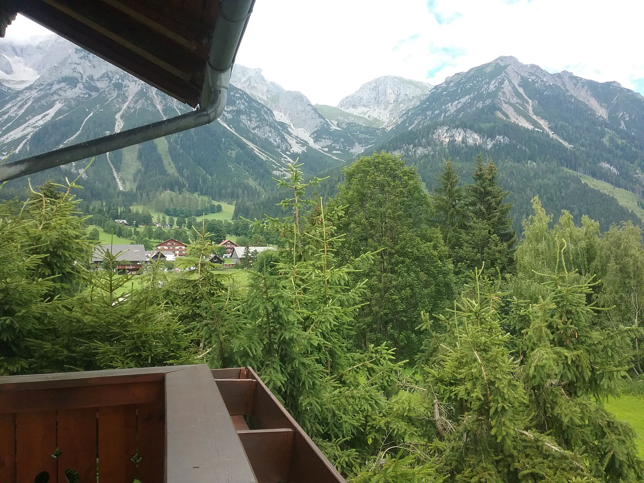 View to the north (Dachstein) from the east-facing  balcony