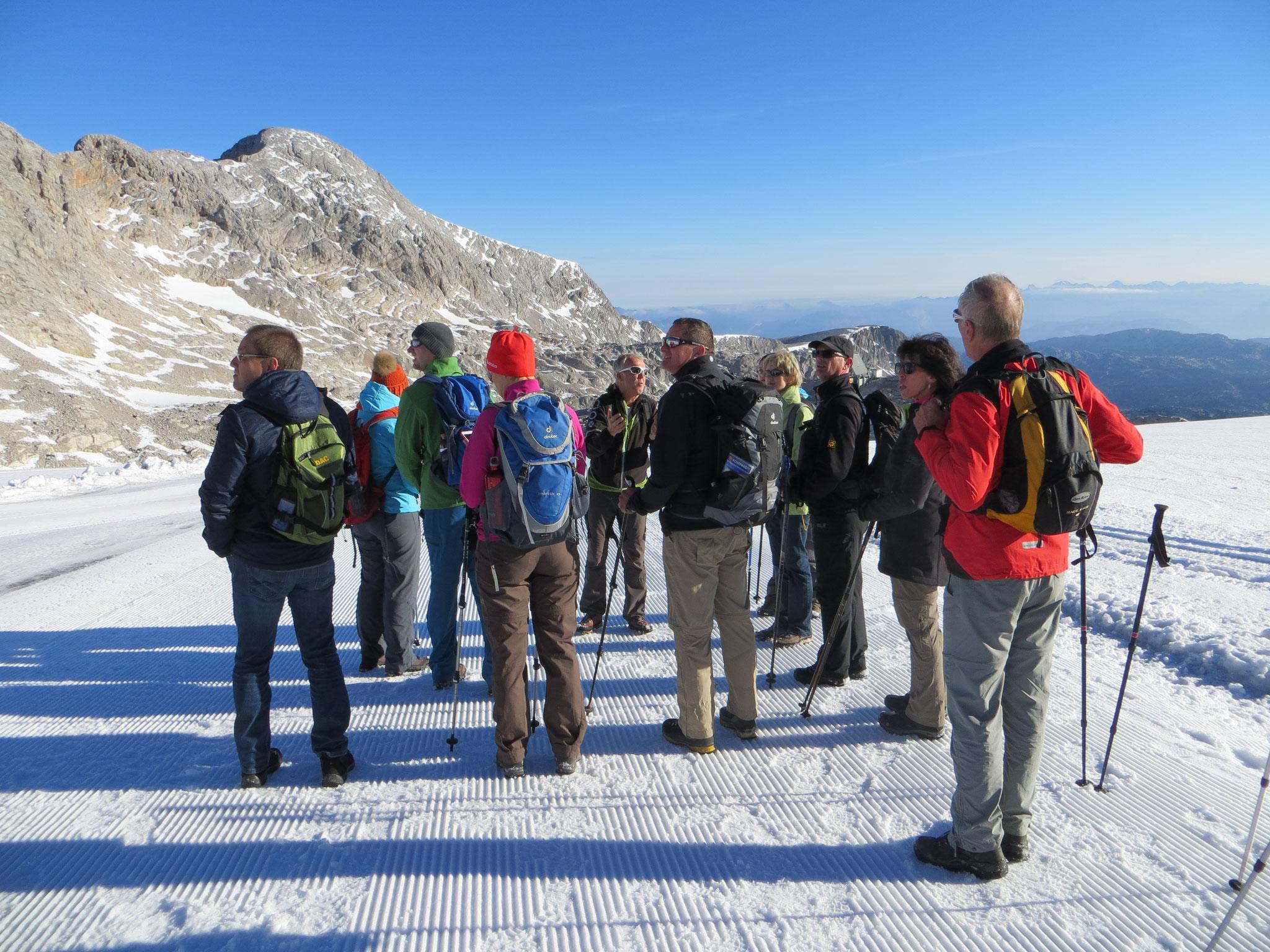 geführte Wanderung am Gletscherübergang