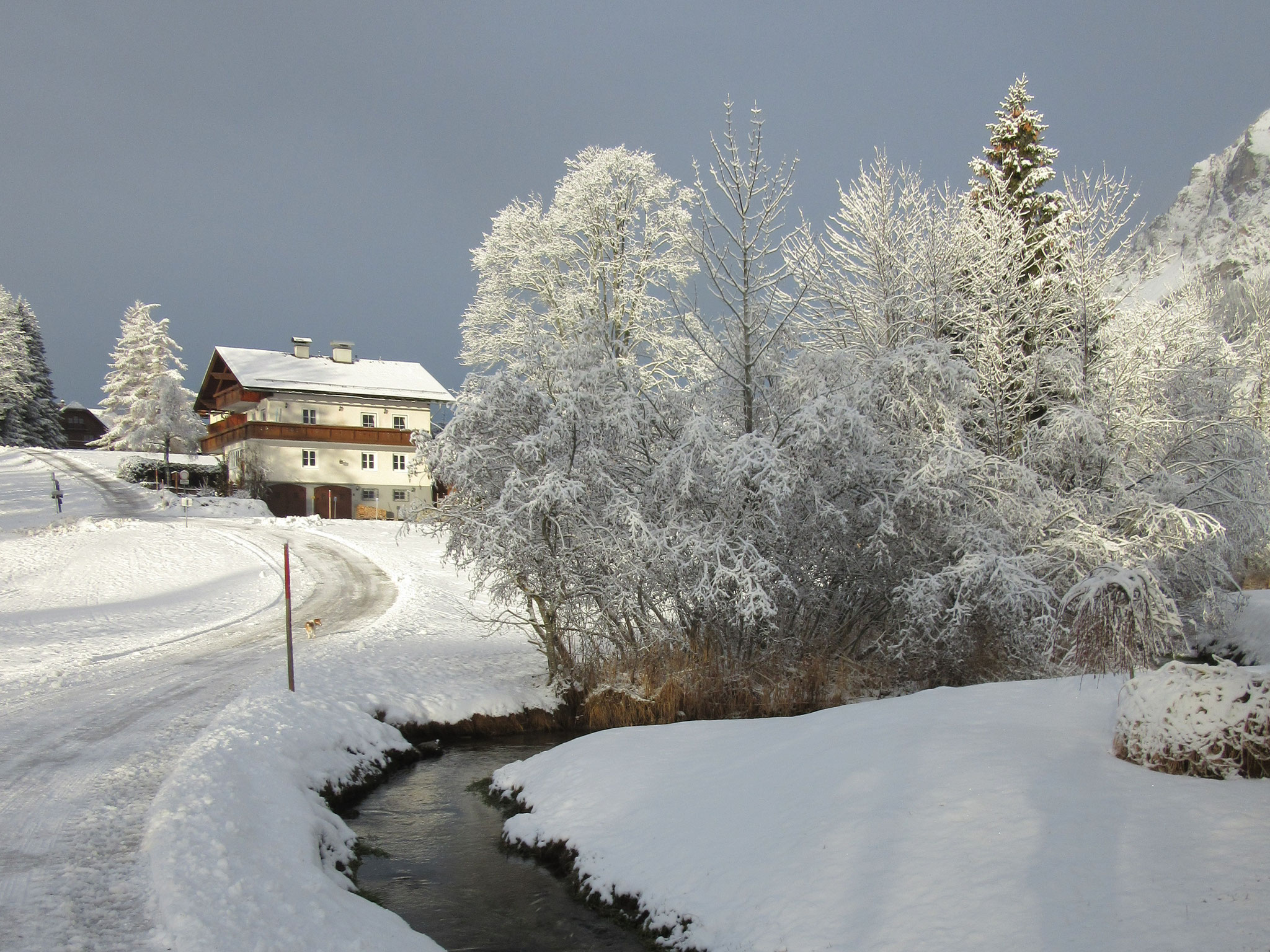 Haus Heidi im Winter