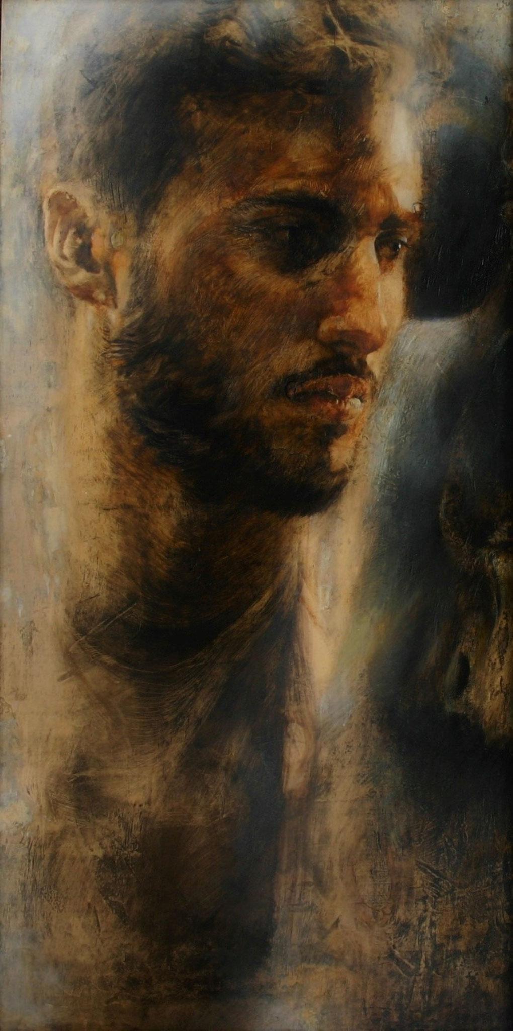 Et in Arcadia ego -  I am your past, present and future.  2014,  120x120, olio su tavola.