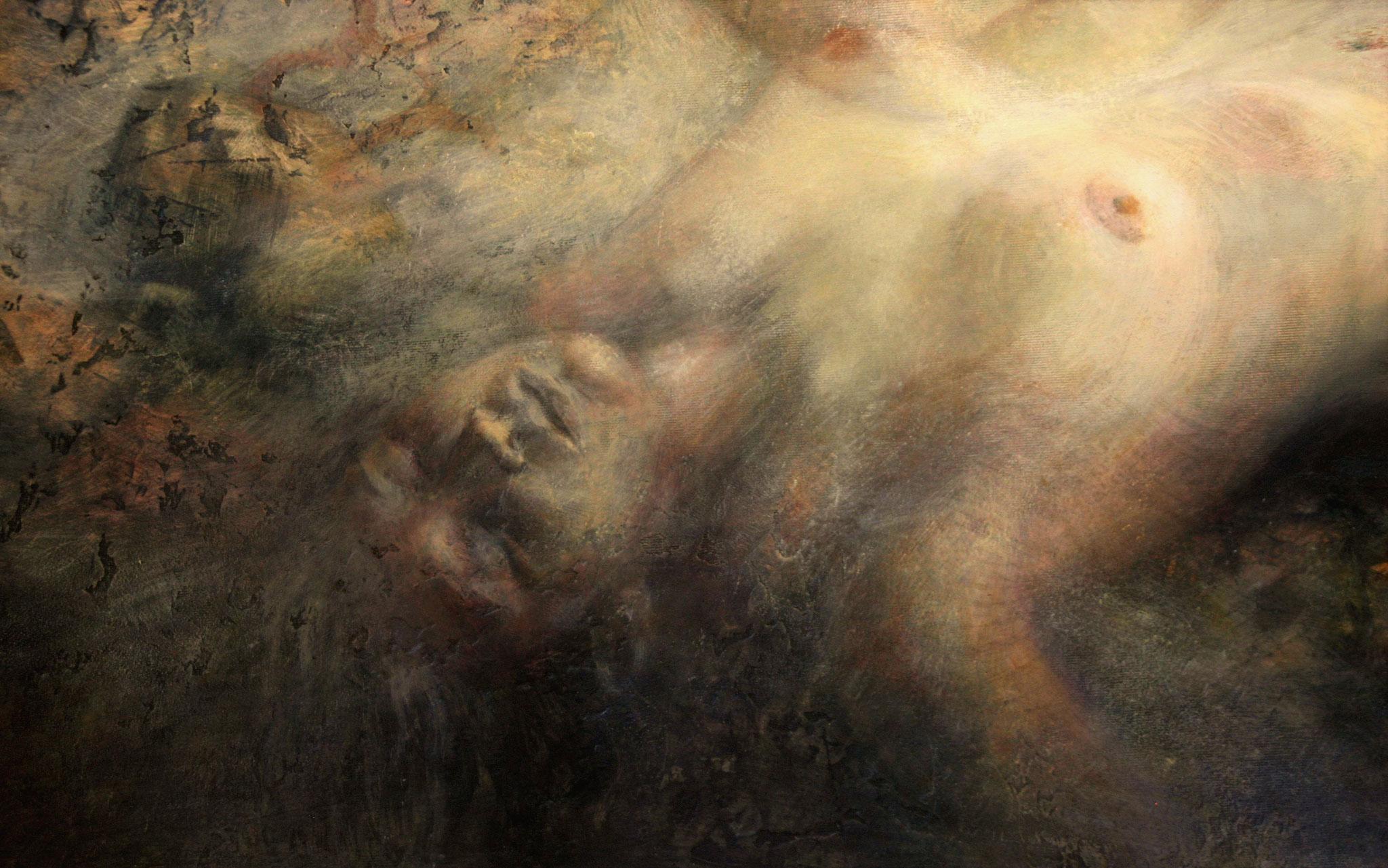 Animus, part. -  2015, 120x170, olio su tela e legno.