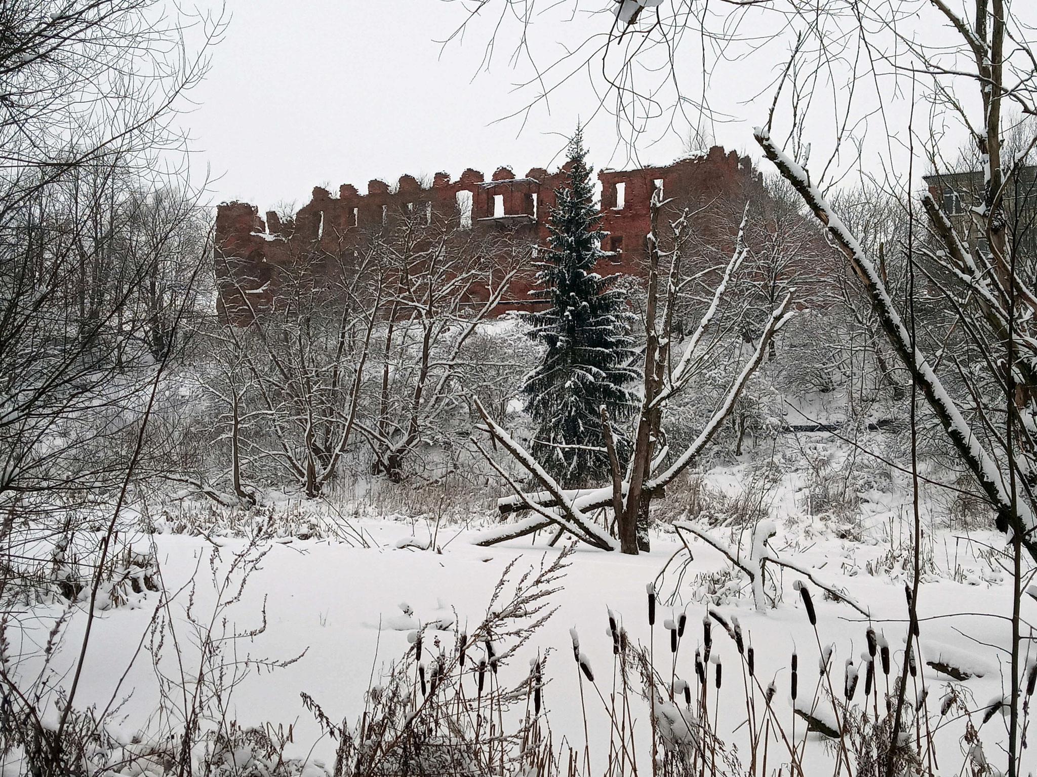 Burg von Ragnit im Winter