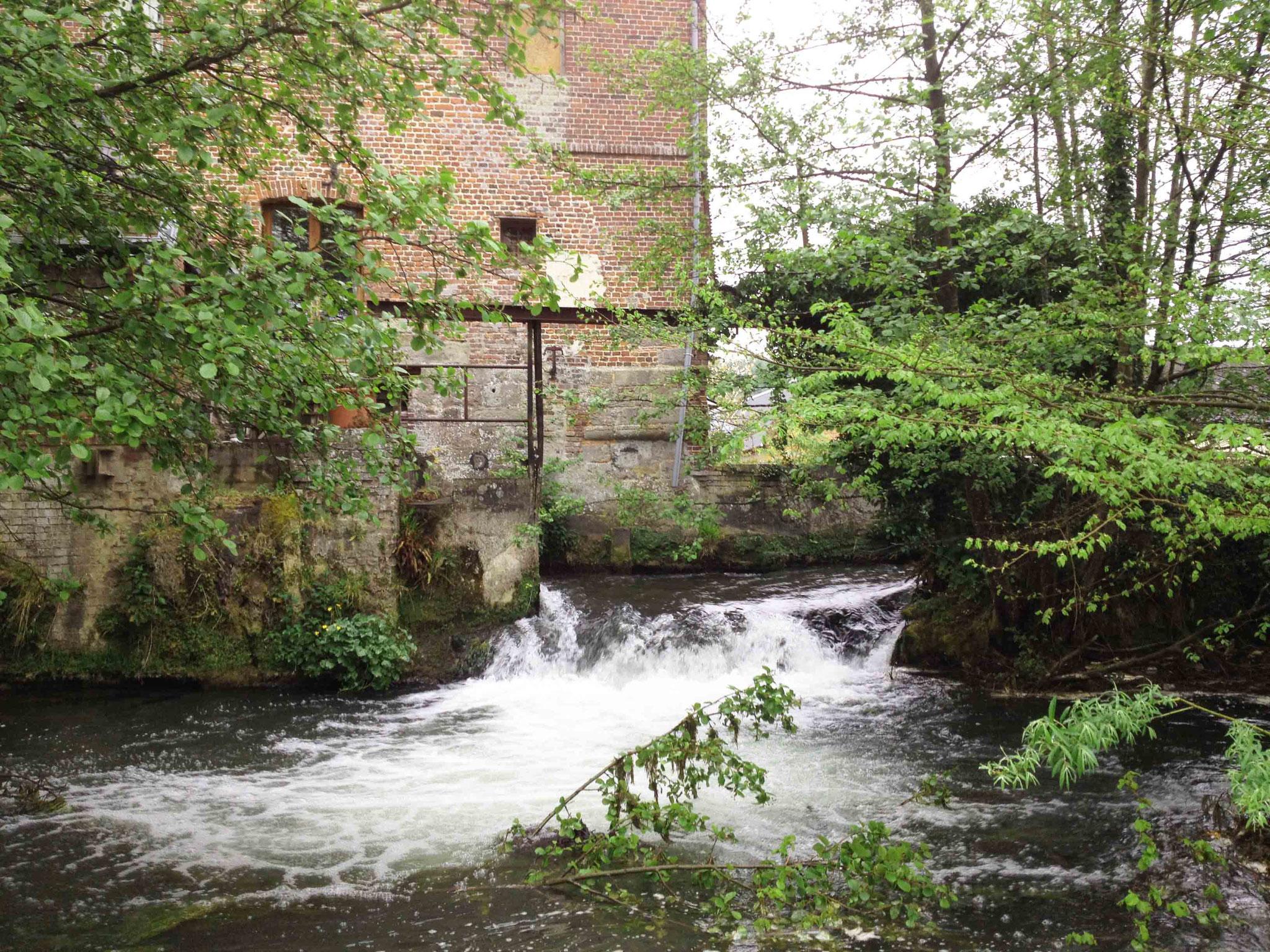 Seuil du moulin avant travaux