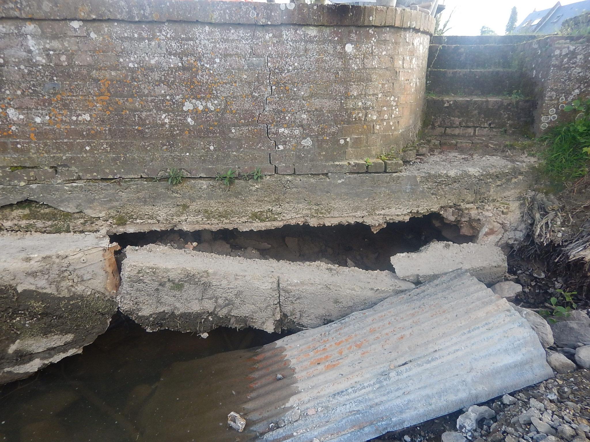Constat des dégâts suite aux crues hivernales.