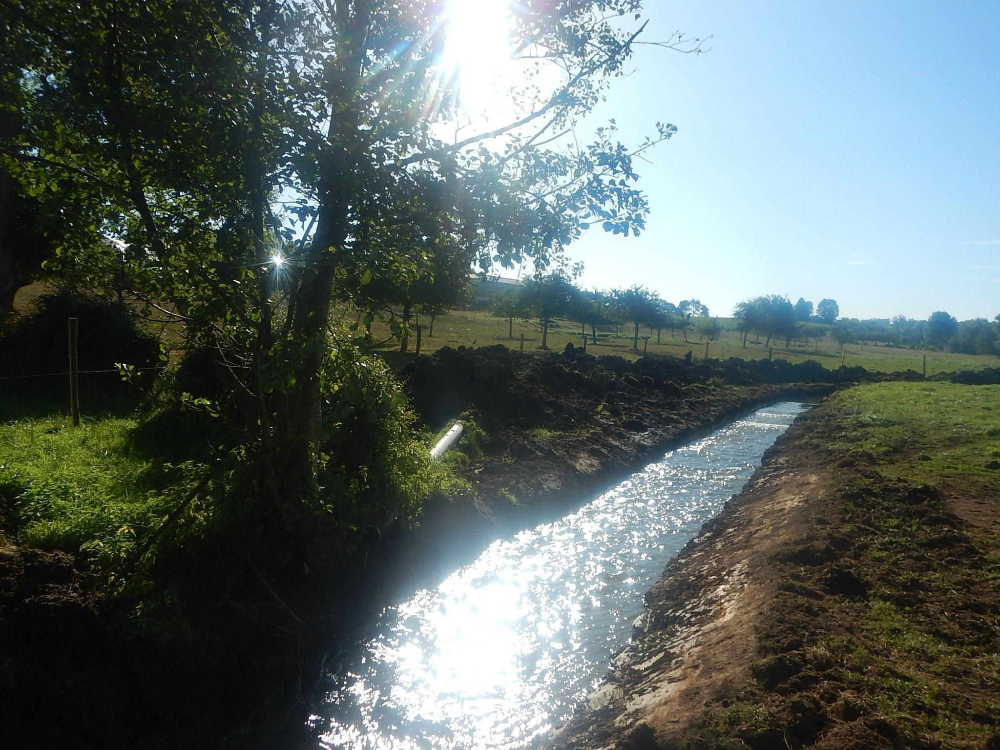 Mise en eau progressive de la dérivation provisoire