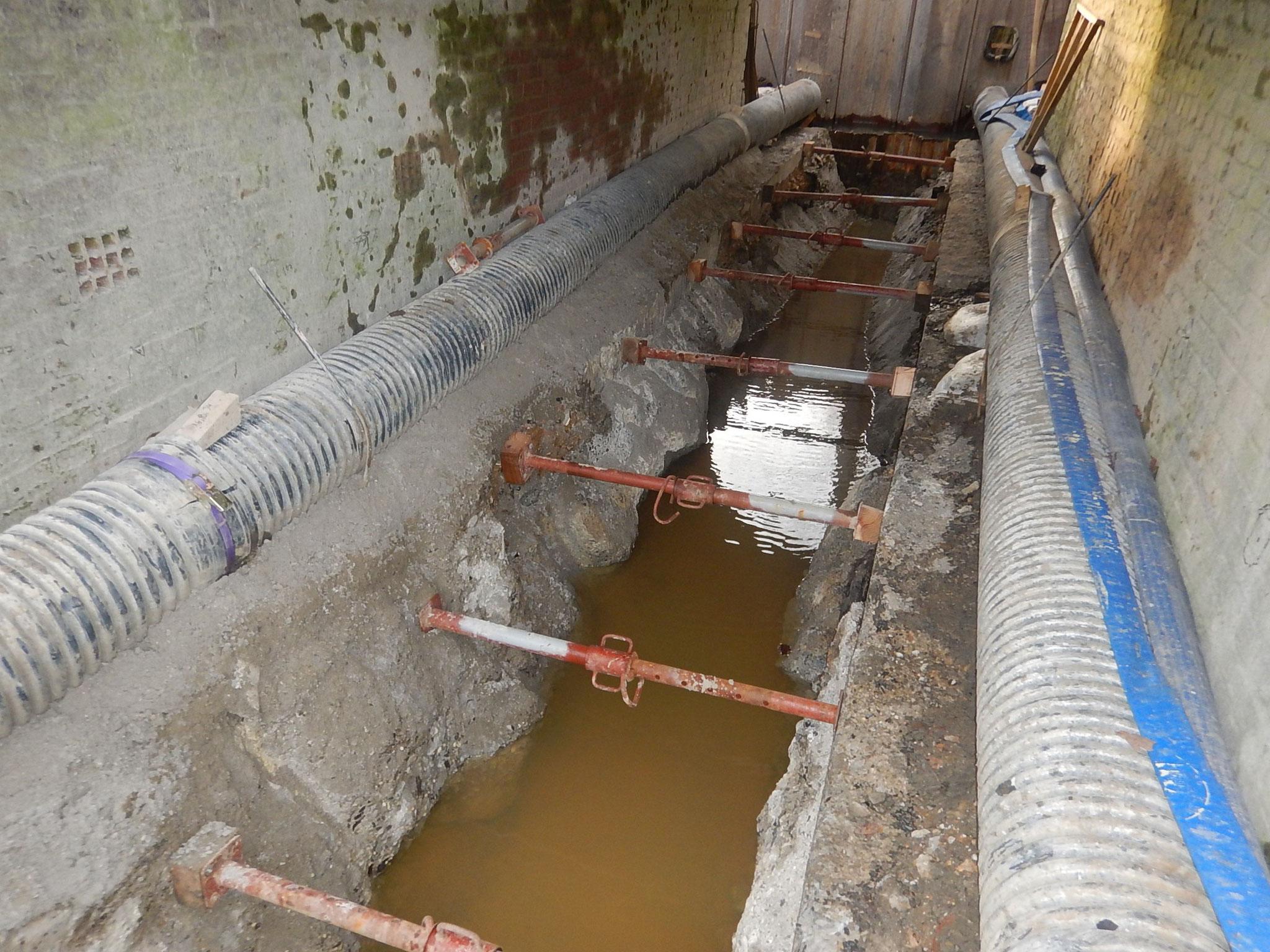 Radier totalement dérasé (profondeur 1.20 m)