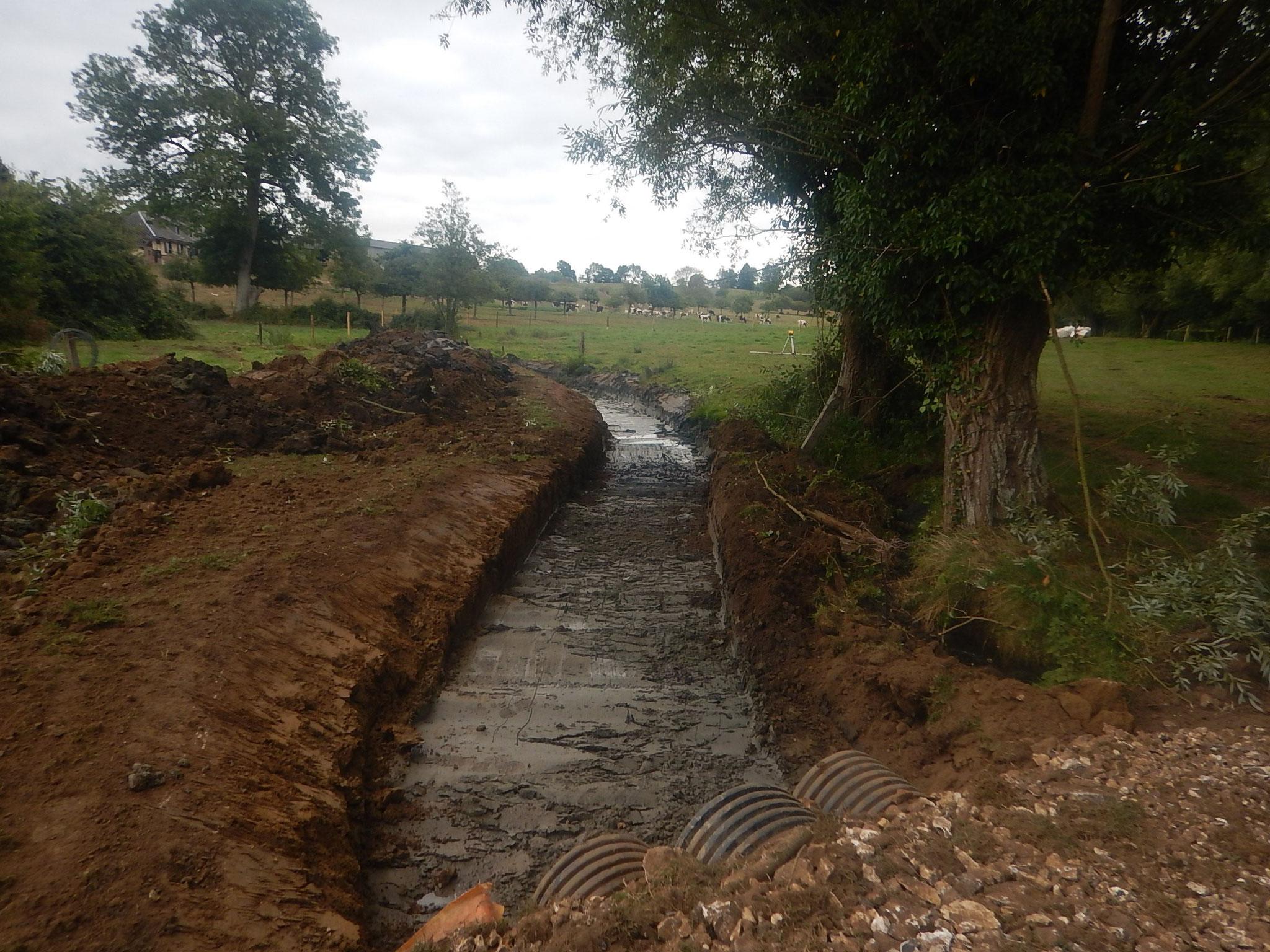 Création d'une rivière de contournement