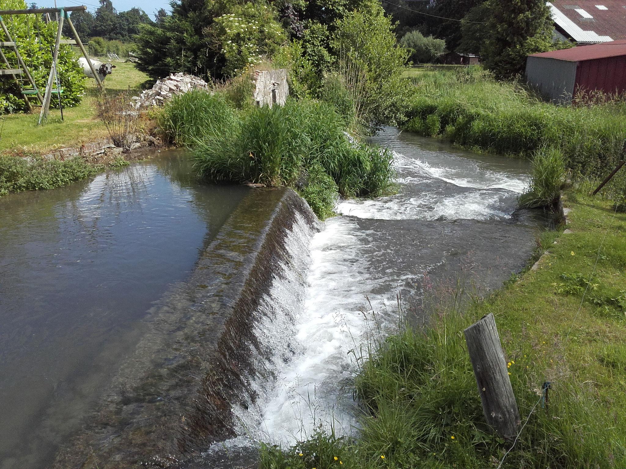 Moulin avant travaux, vu de l'amont