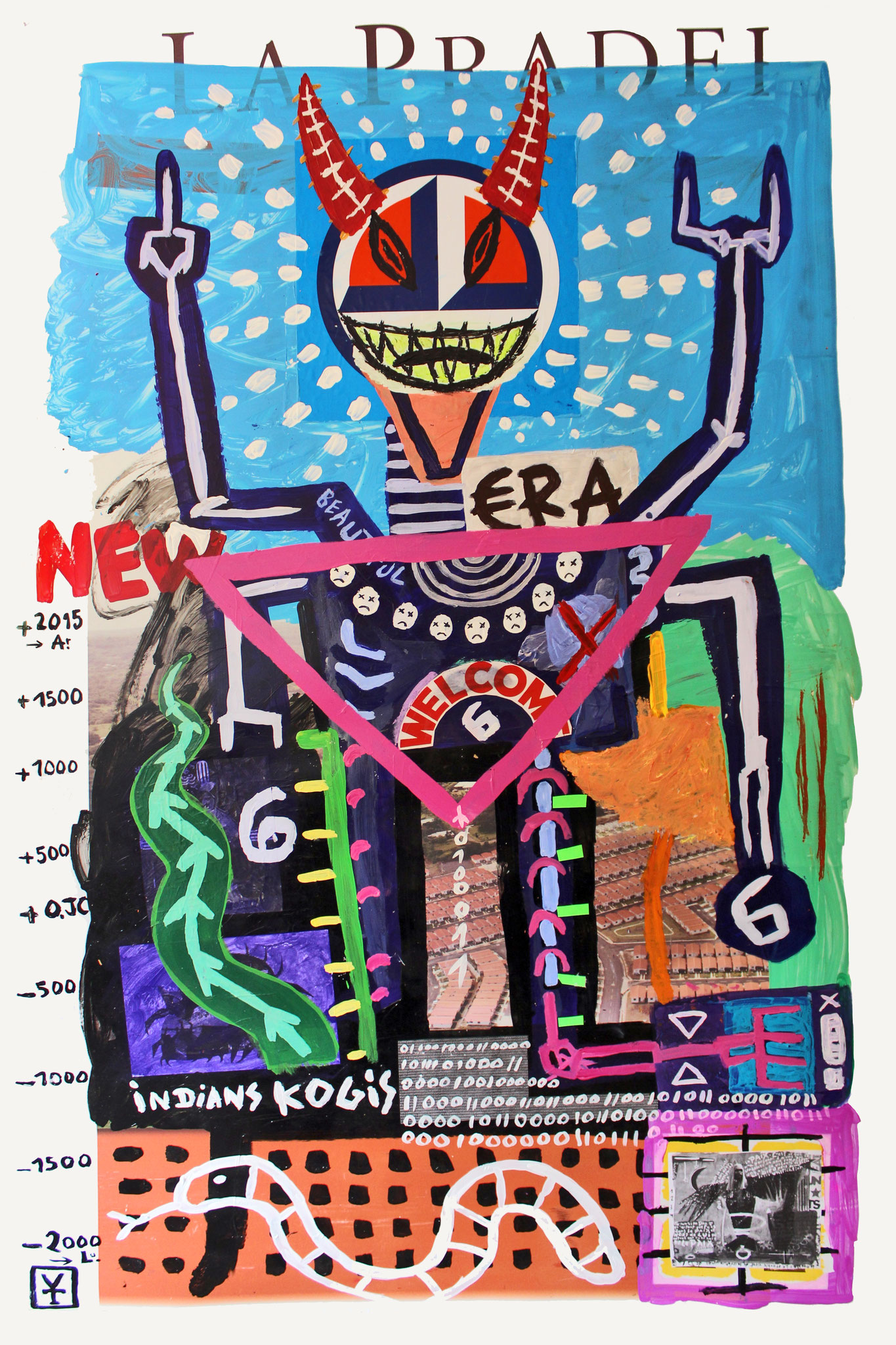 NEW BEAUTIFUL ERA - Acrylic and collage on plastic - 75x48inch- 2015