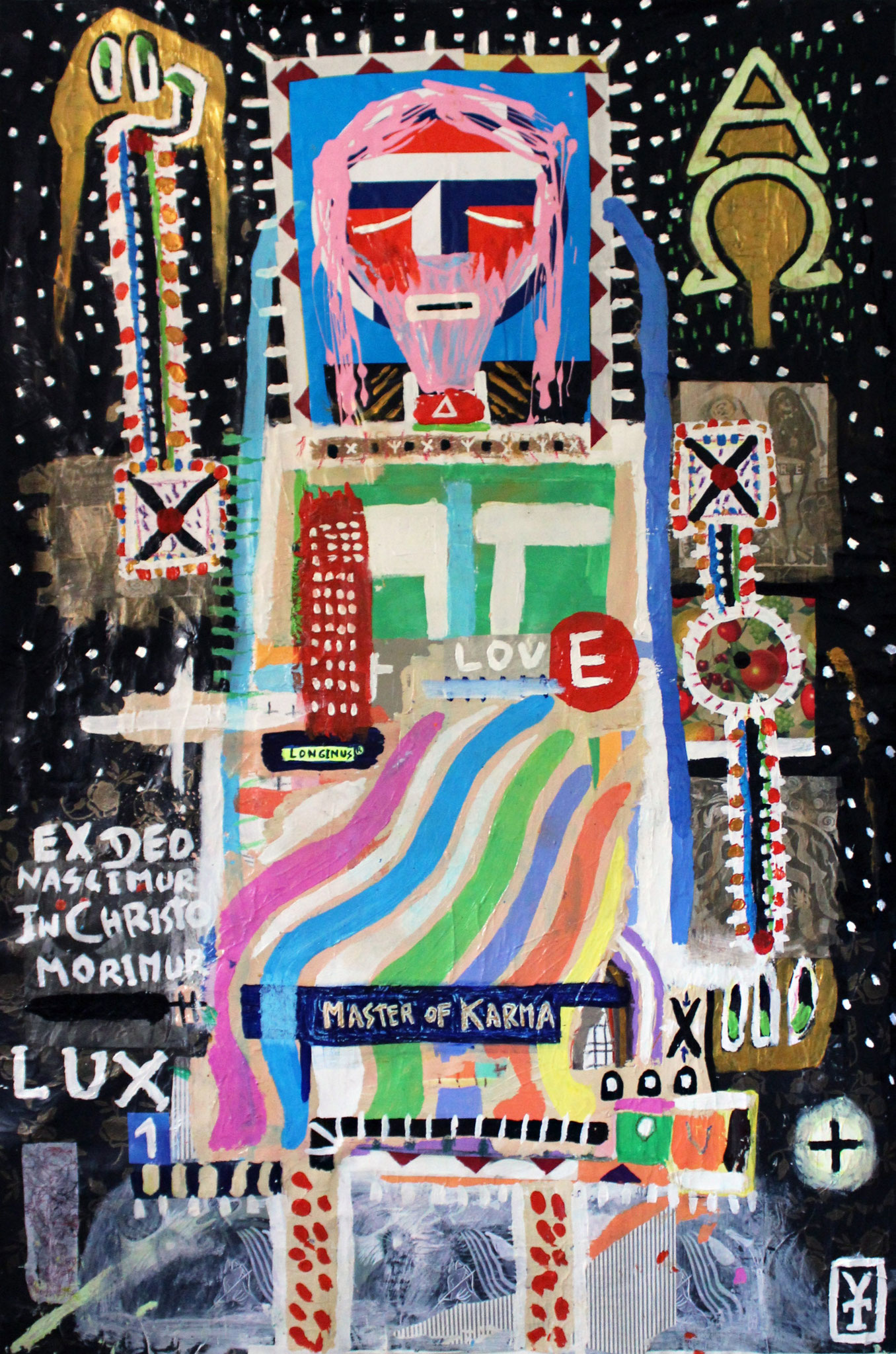 EL SEÑOR - Acrylic, collage and oil pastel on canvas - 44.5x69inch- 2015