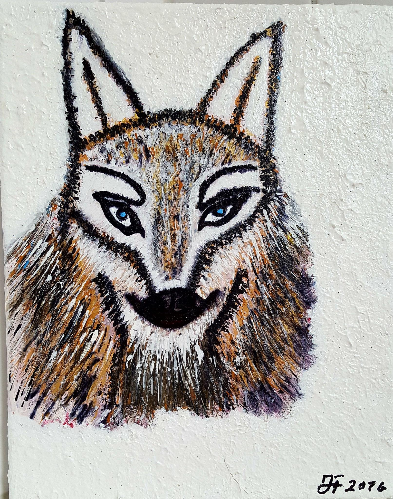 Wolfinchen, Leinwand 30x24 cm Fr. 320.--