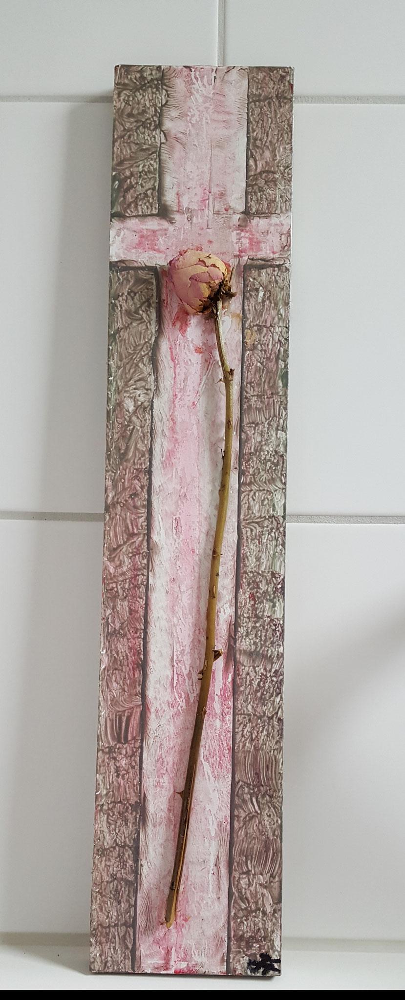 Kreuz 5, Holz 3D, 52x10,5cm Fr. 220.--