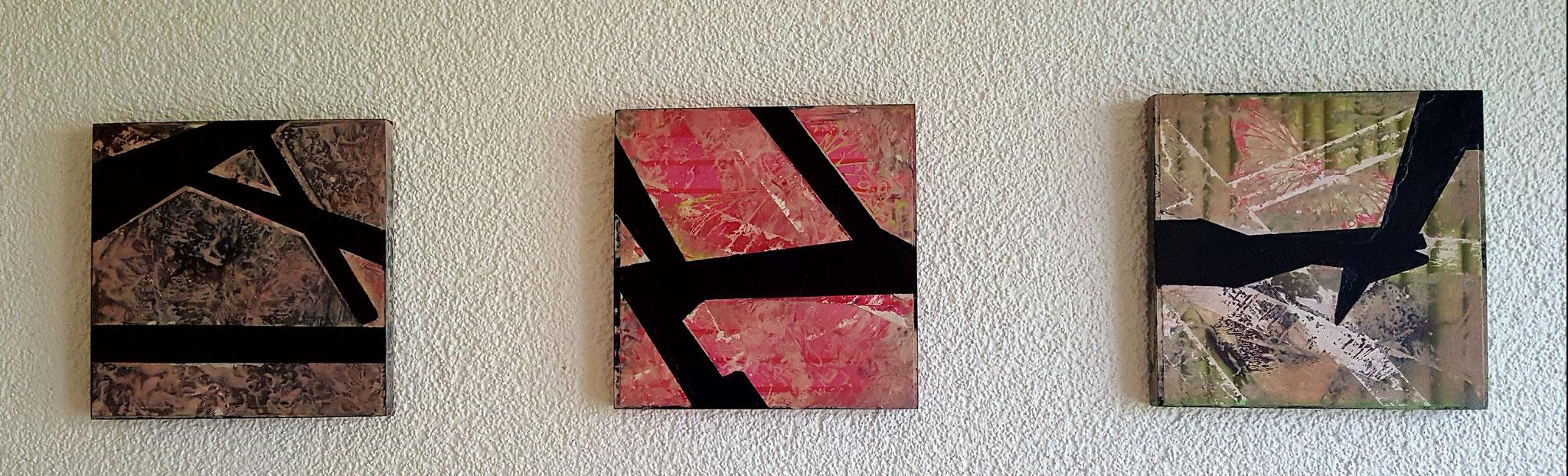 Ways Trio, Holz, 3x 17x17cm Fr. 280.--