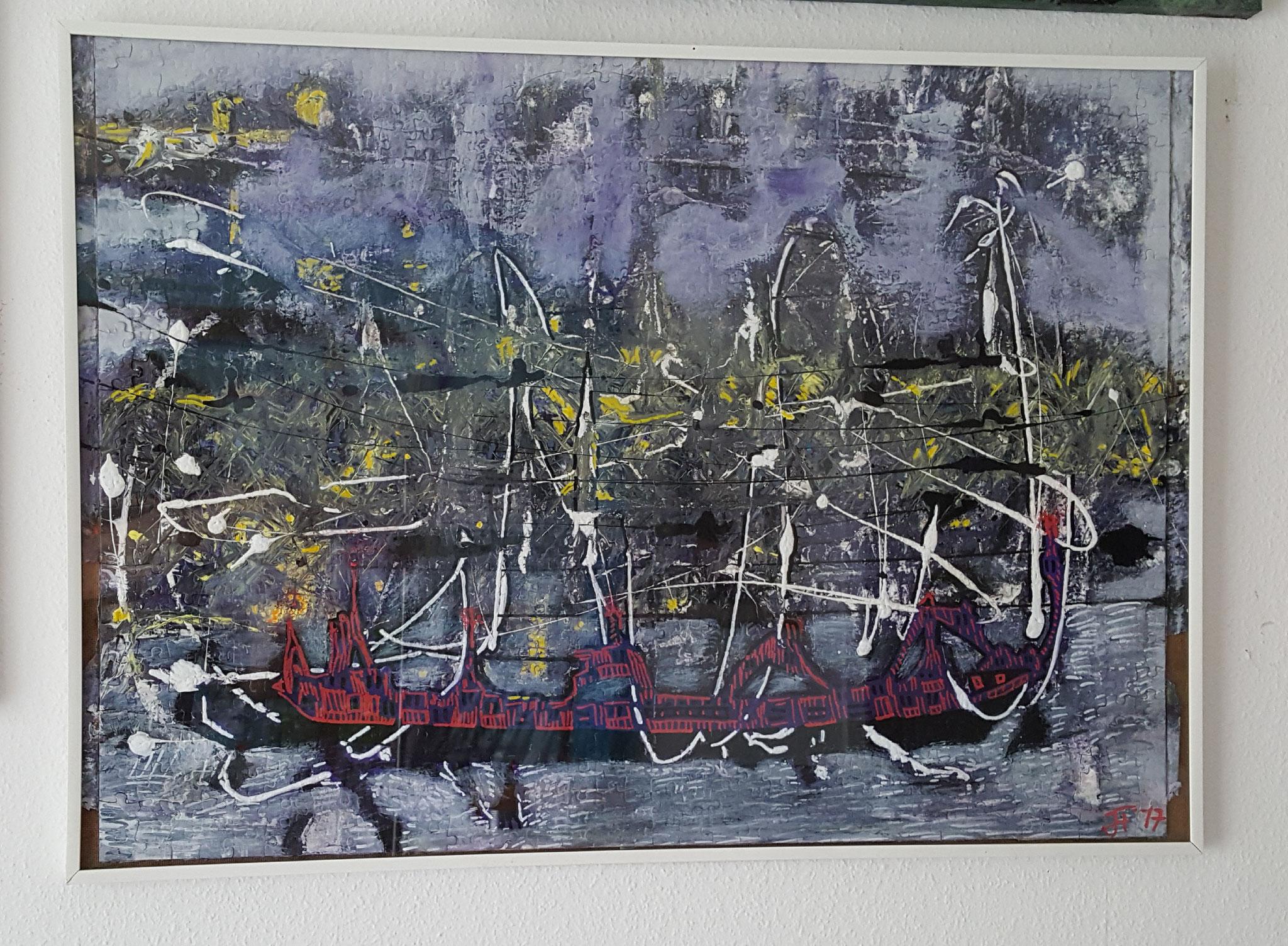 Eisbrecher, Bild, 70x50cm, Puzzle, Fr. 480.-- , Fr. 520.-- m/Rahmen
