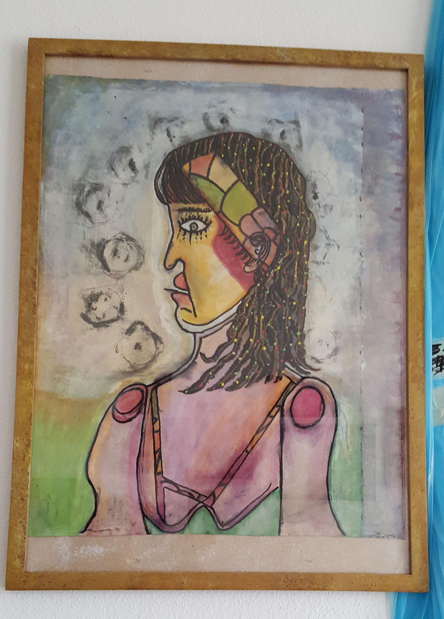 Madame, Bild, 72x53cm Fr. 450.--, Fr. 490.-- m/R.ahmen