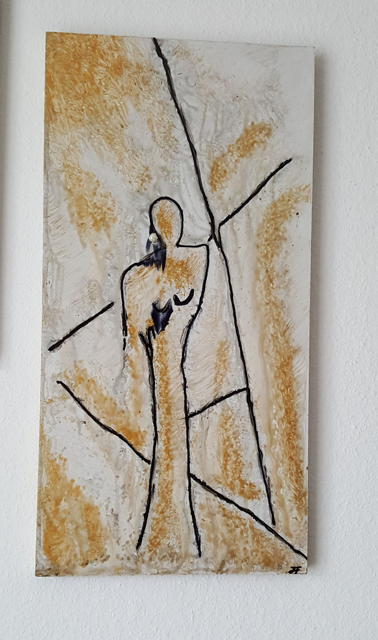 Frau, Holz 53x27cm, Fr. 290.--