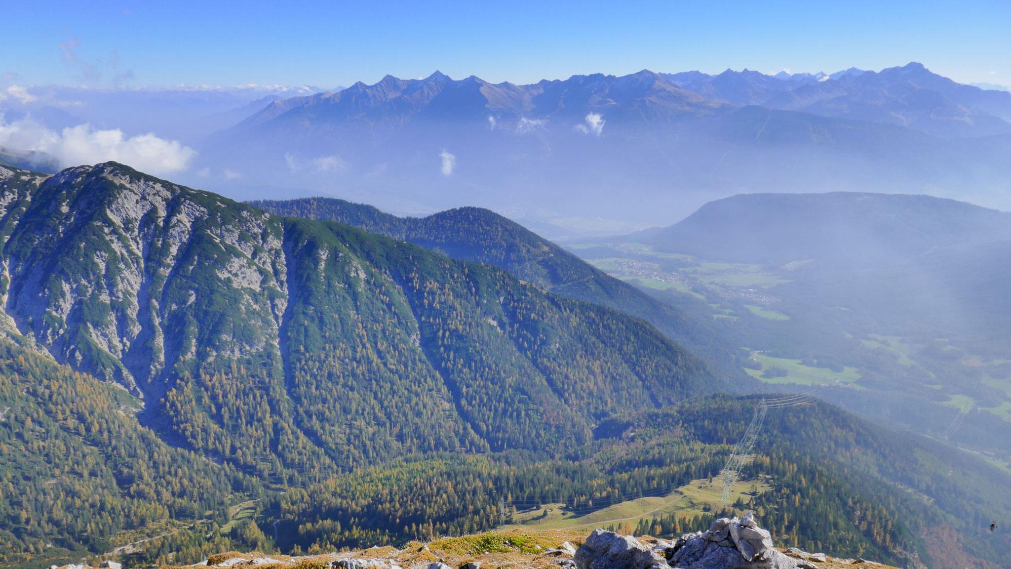 Mieminger Plateau und Stubaier Alpen