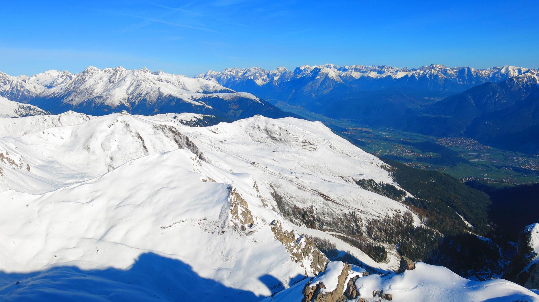 Skigebiet Axamer Lizum, Oberinntal und Wetterstein