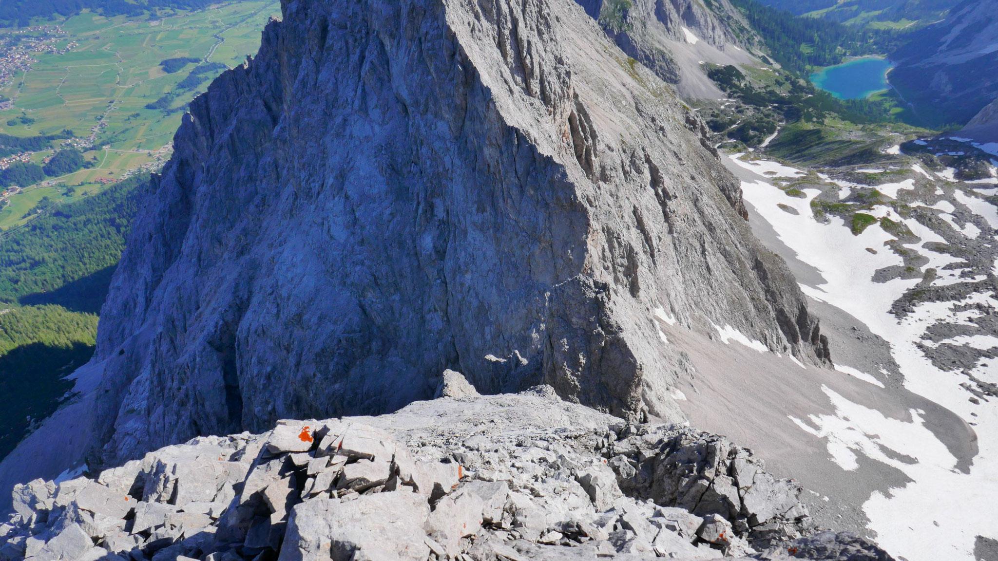 IV+ Route von der Schwärzscharte herauf zur Westl. Marienbergspitze