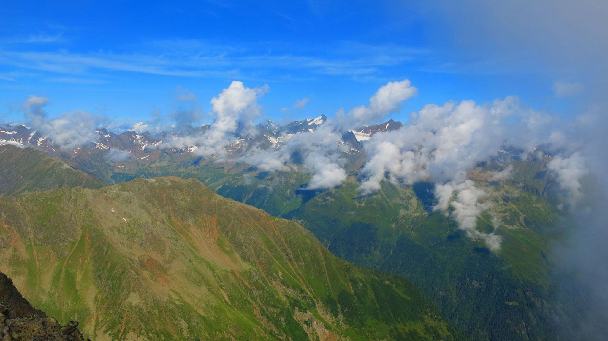 Nach Westen zur Ruderhofspitze und Östlichen Seespitze