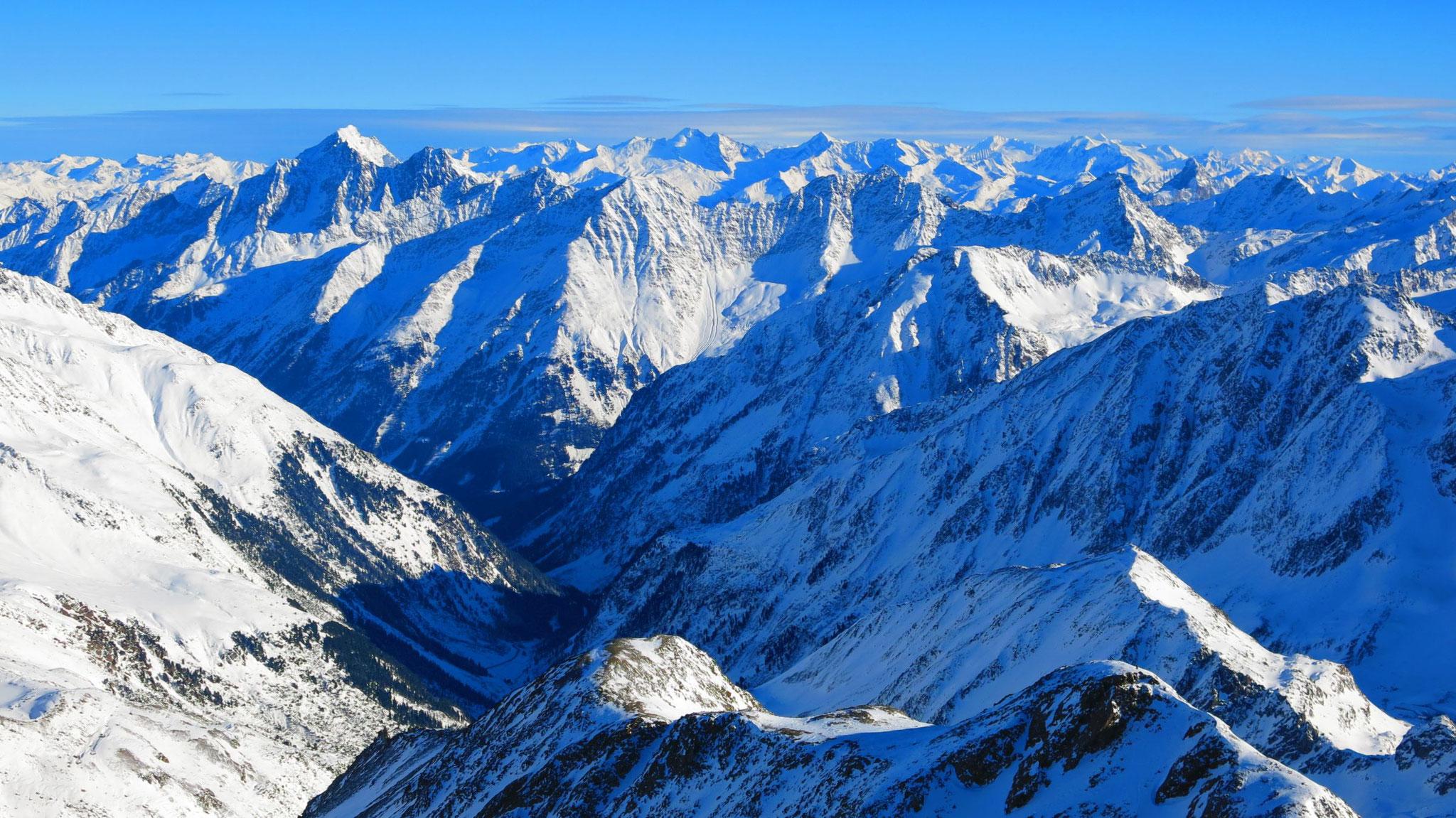 Über den Habicht-Kamm in die Zillertaler Alpen