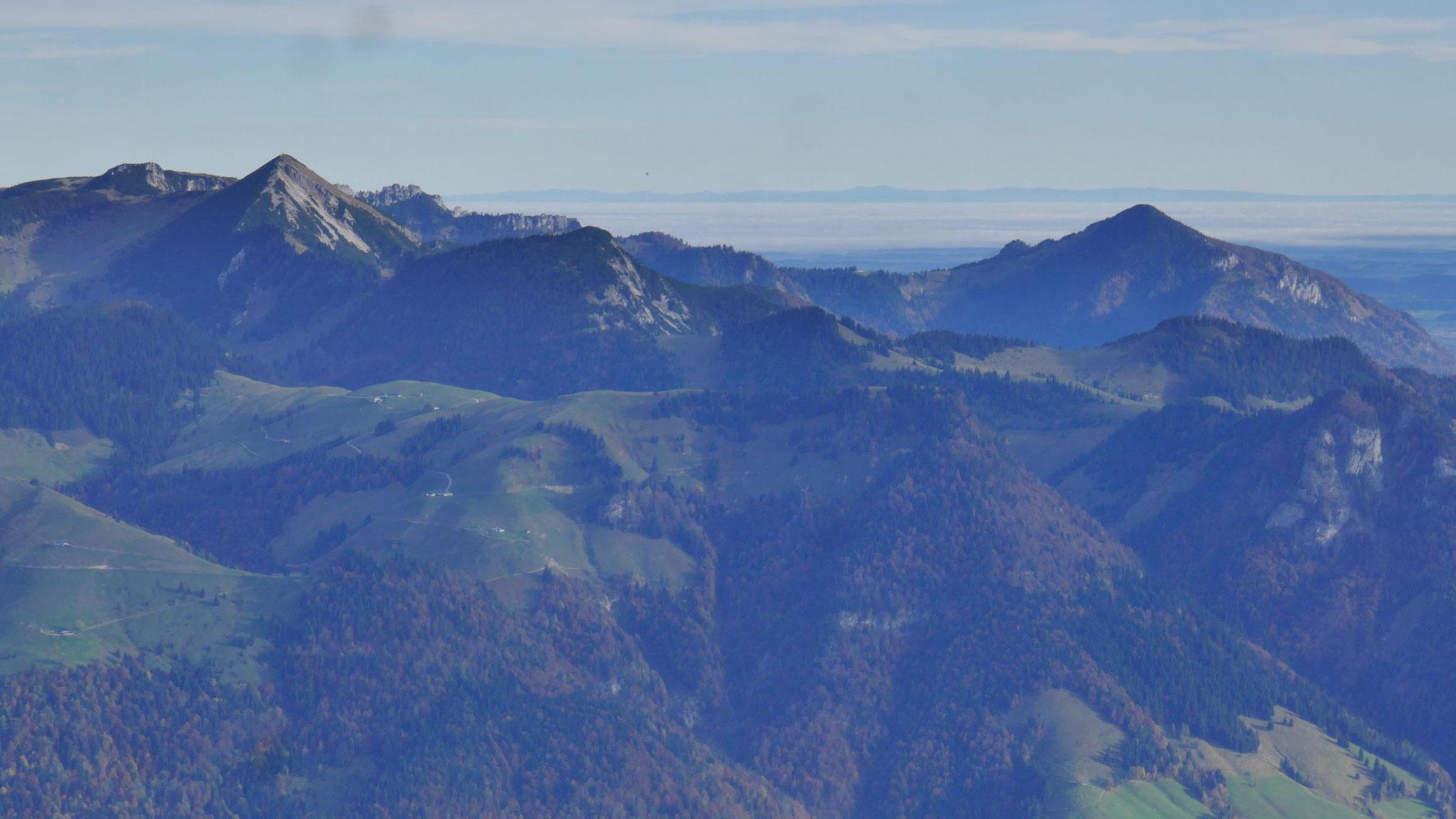 Geigelstein, Breitenstein und Hochplatte in den Chiemgauern