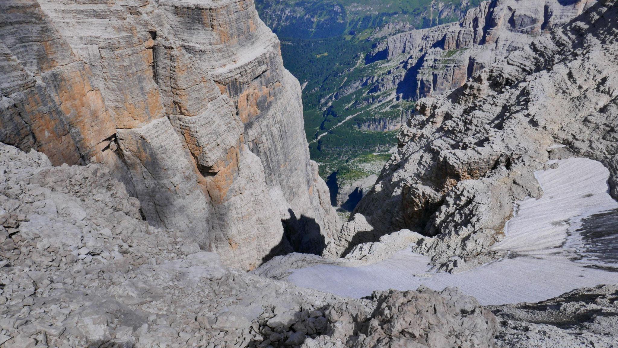 Nordseitiger Gletscher an der Cima Tosa