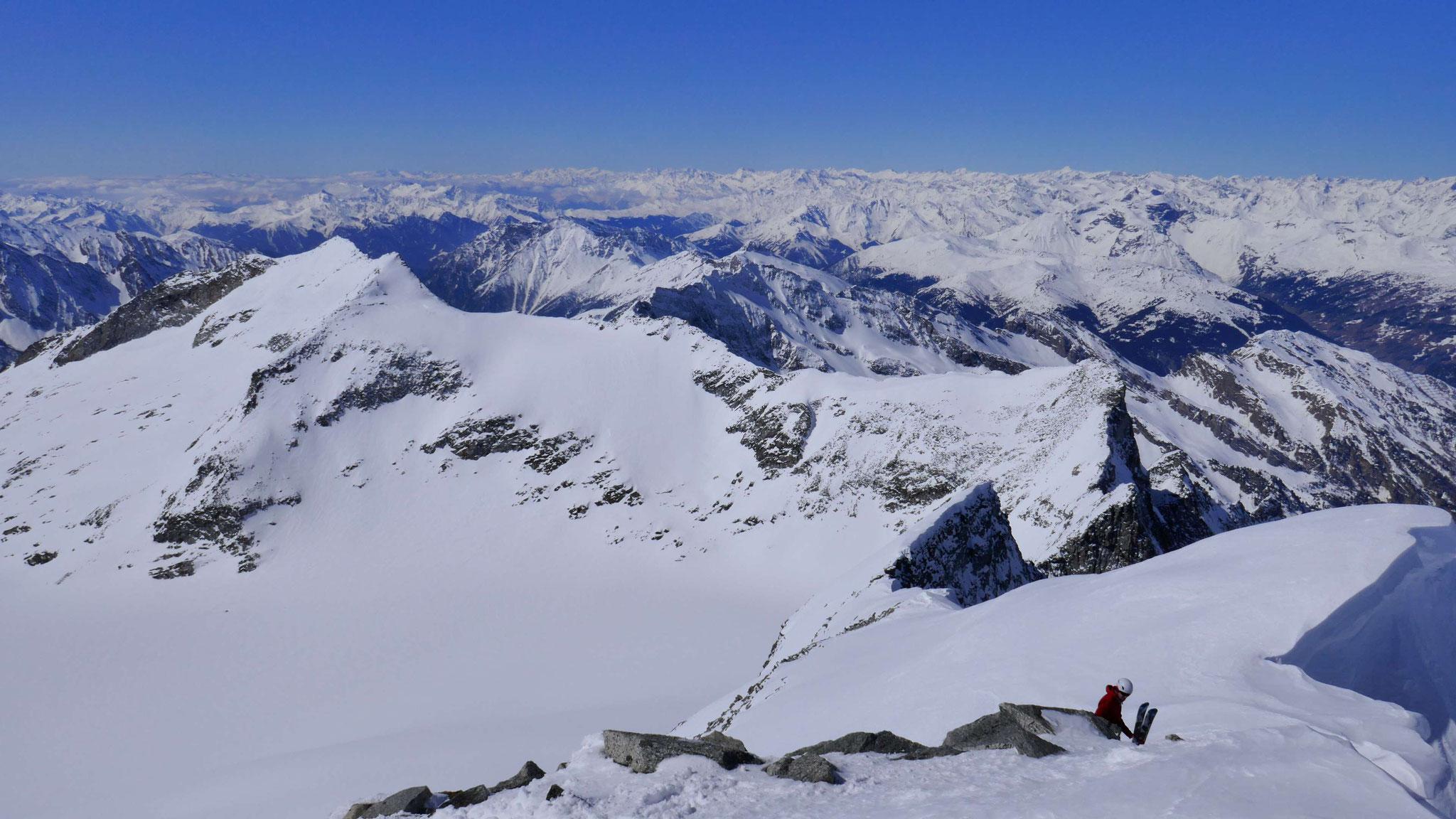 Gipfelschau nach Westen