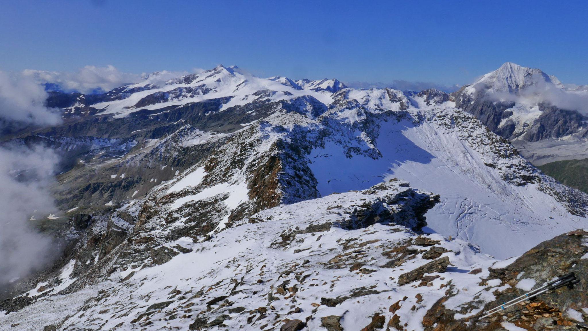 Nach Süden zu Cevedale und Königsspitze
