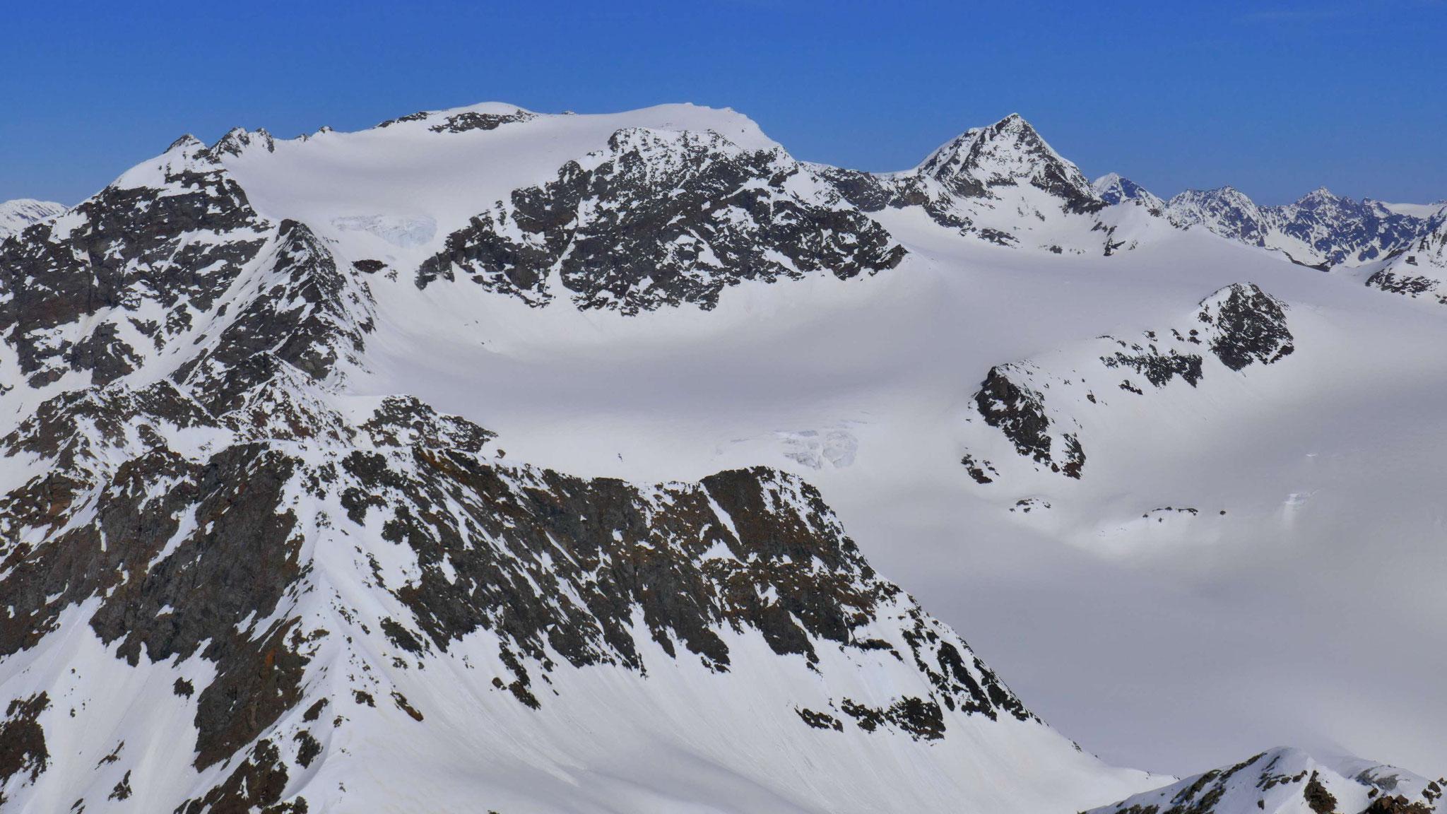 Sonklarspitze und Wilder Pfaff, links davor Hofmann- und Königshofspitze