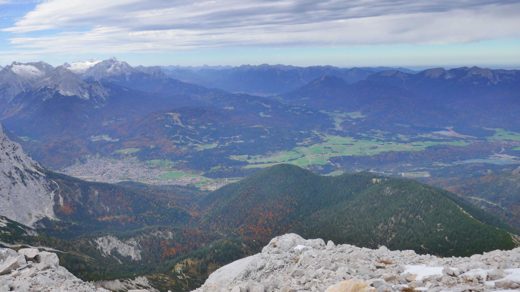 Mittenwald und Richtung Garmisch
