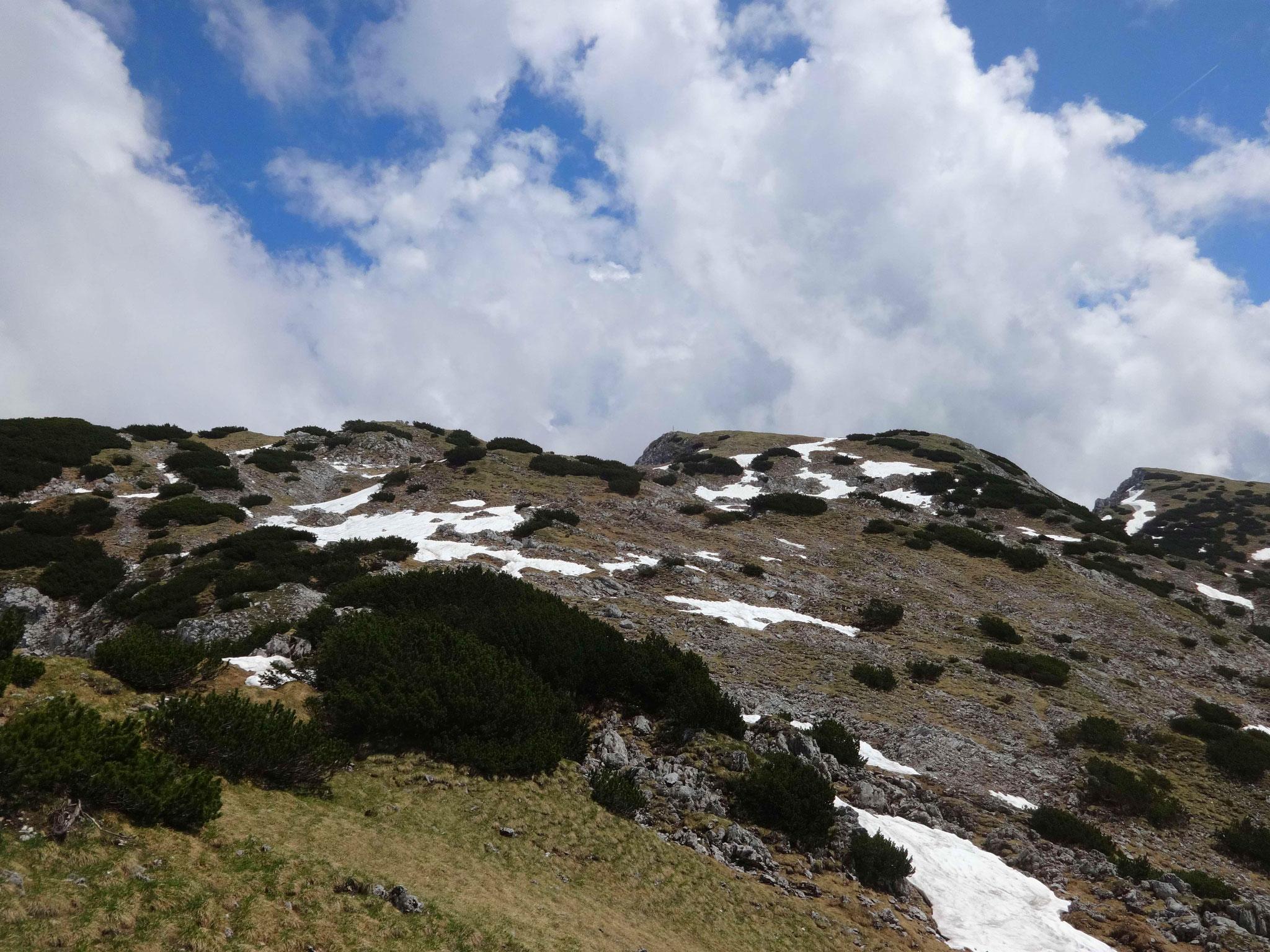 ...ehe es die letzten Meter zur Pyramidenspitze geht, dem bekanntesten Gipfel des Zahmen Kaisers, der...