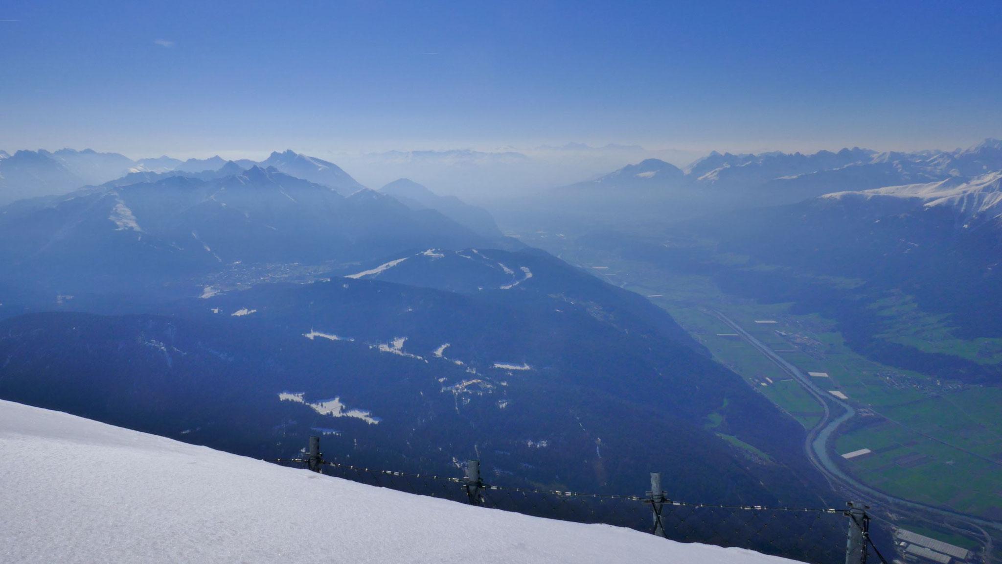 Richtung Seefeld und Innsbruck