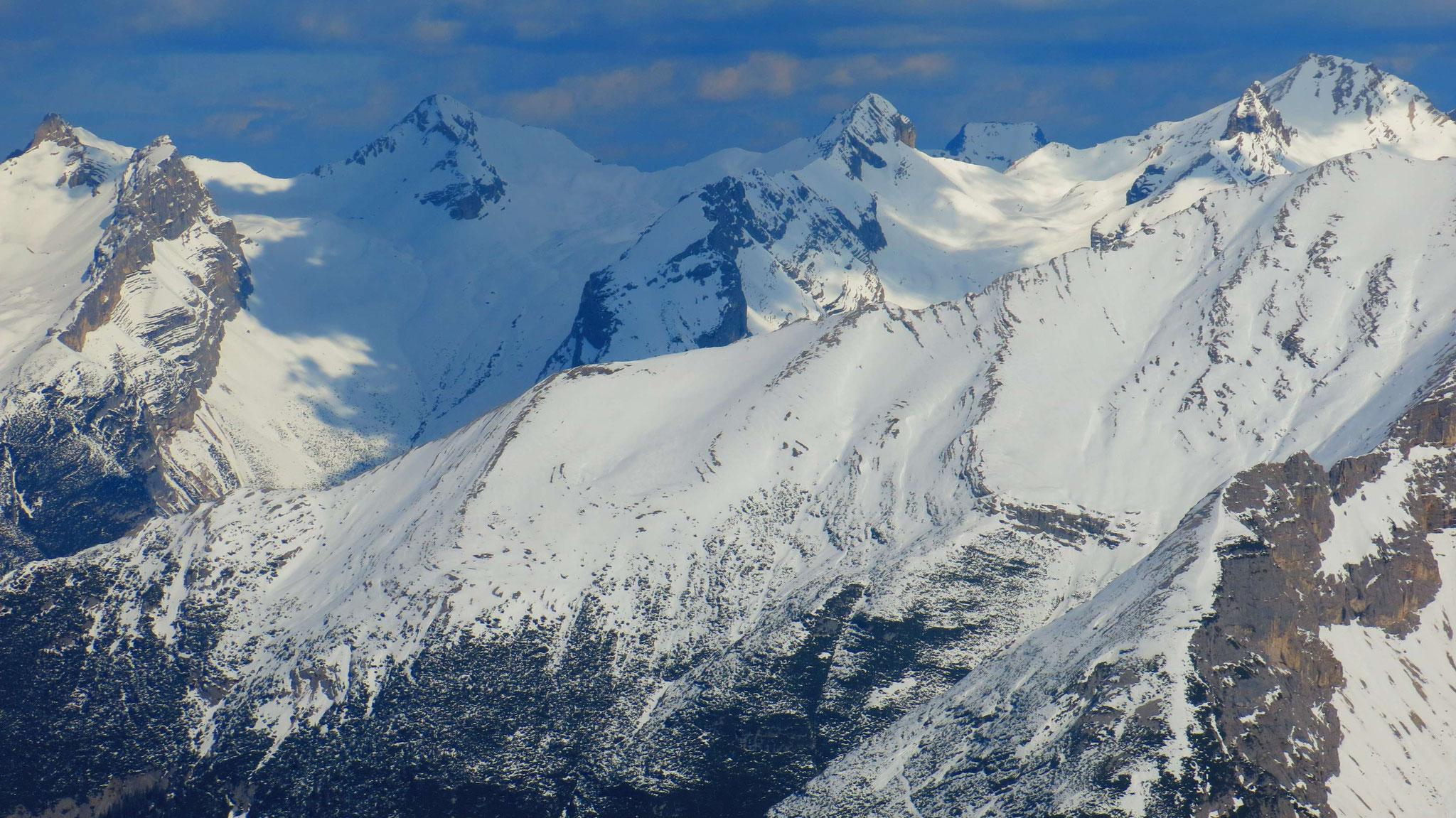 Im Vordergrund Gleirsch-Westgrat, dahinter Larchetkar- bis Gr. Seekarspitze