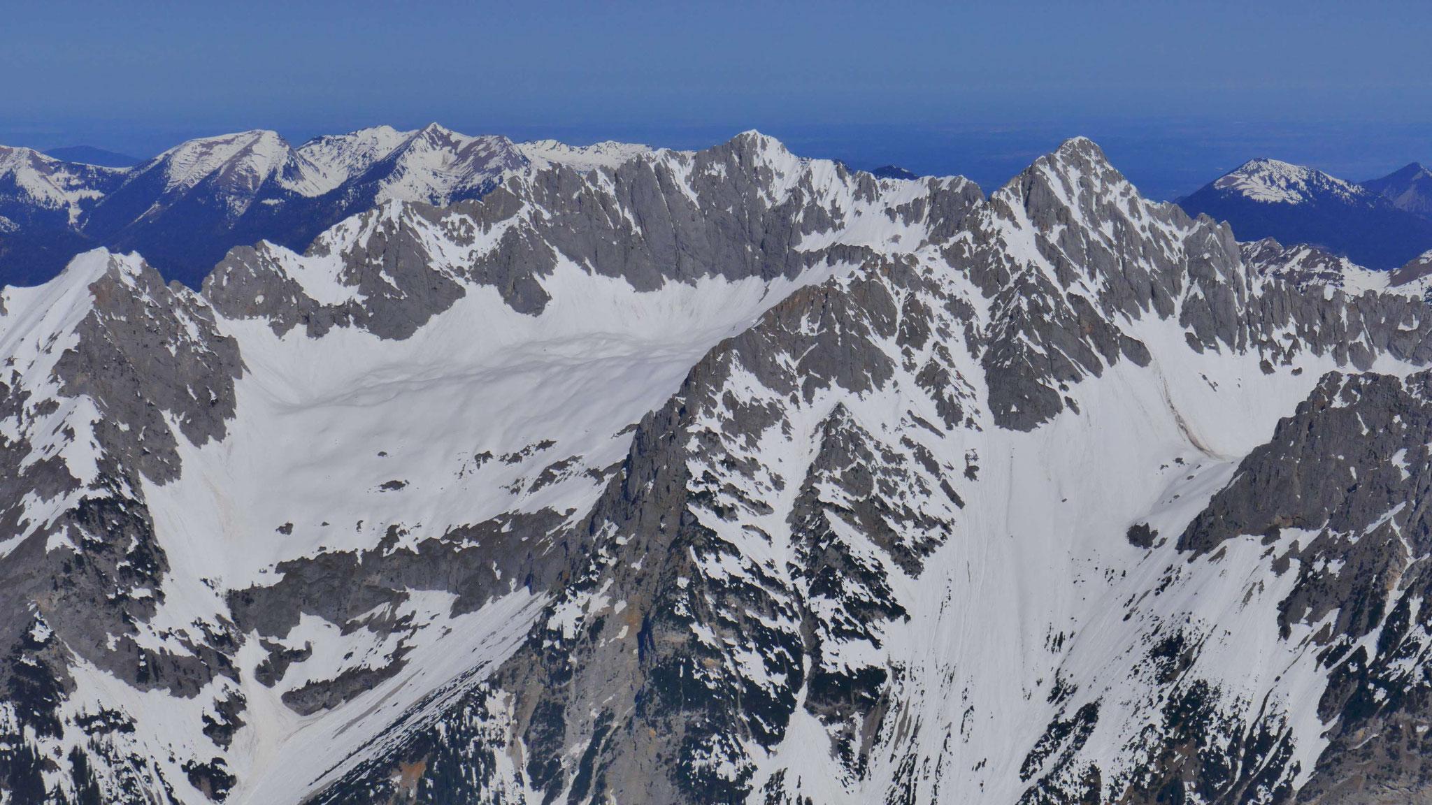 Wörner und Hochkarspitze über Großkar