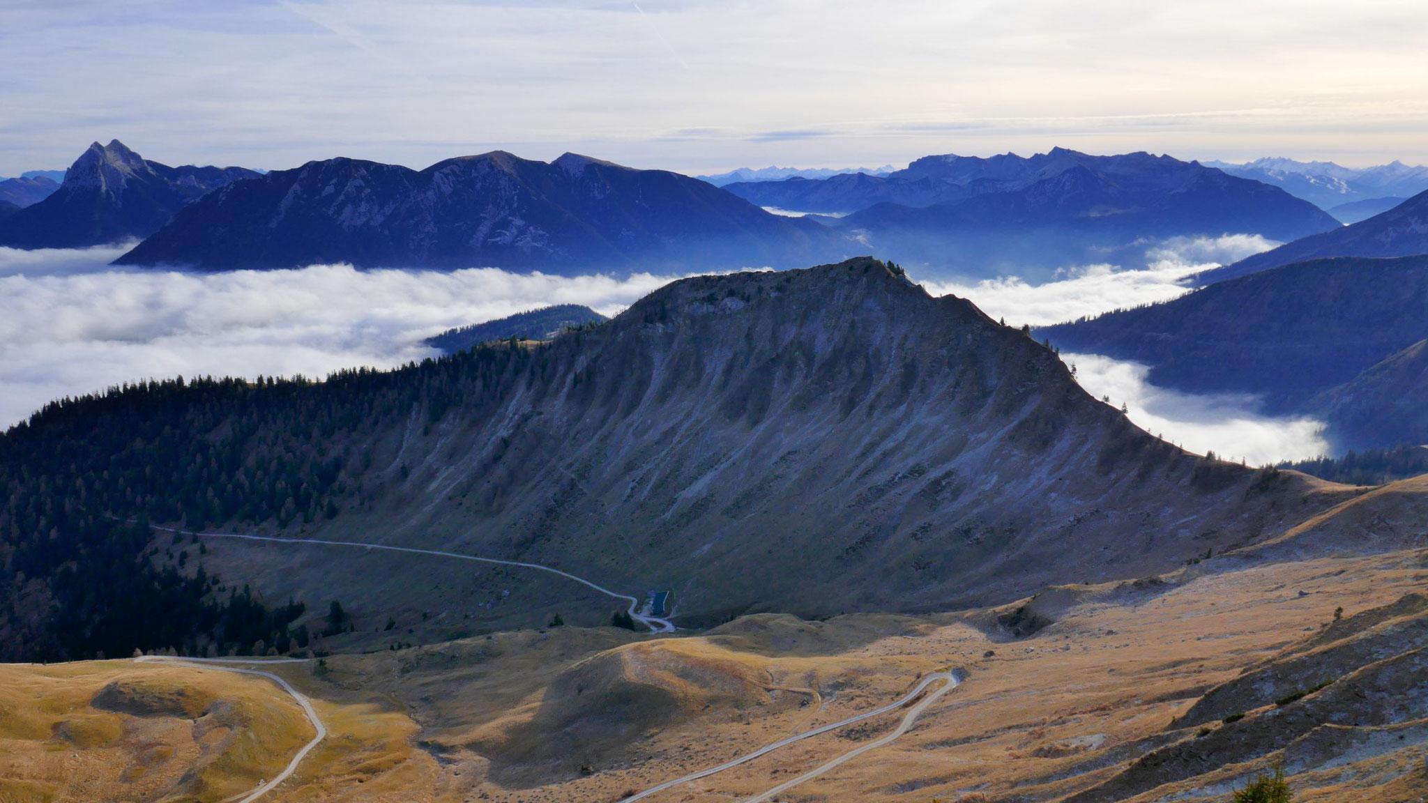 Hochplatte und Anstiegsweg über Grosszemmalm