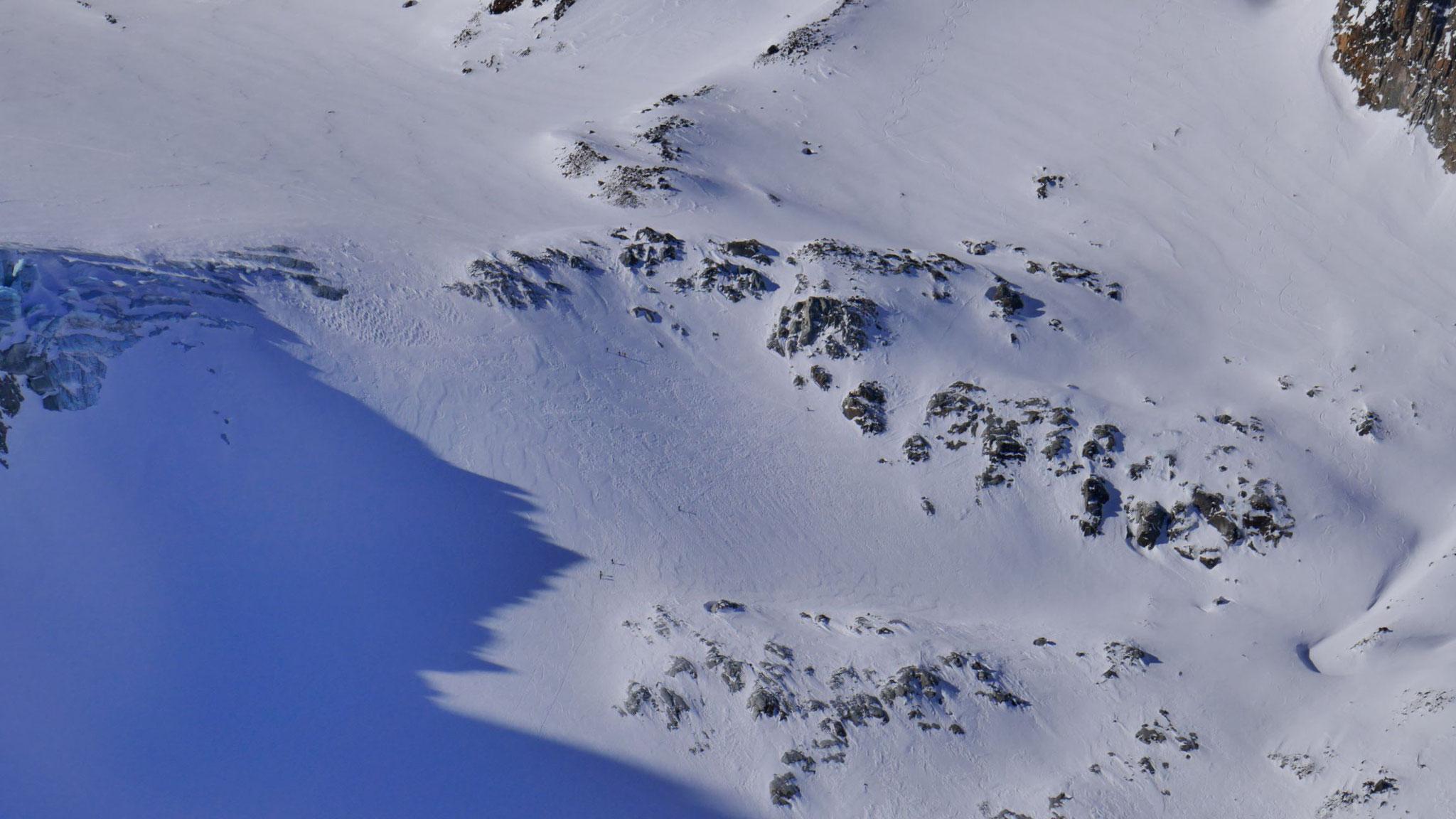 Tourengeher im Anstieg zum Alpeiner Ferner