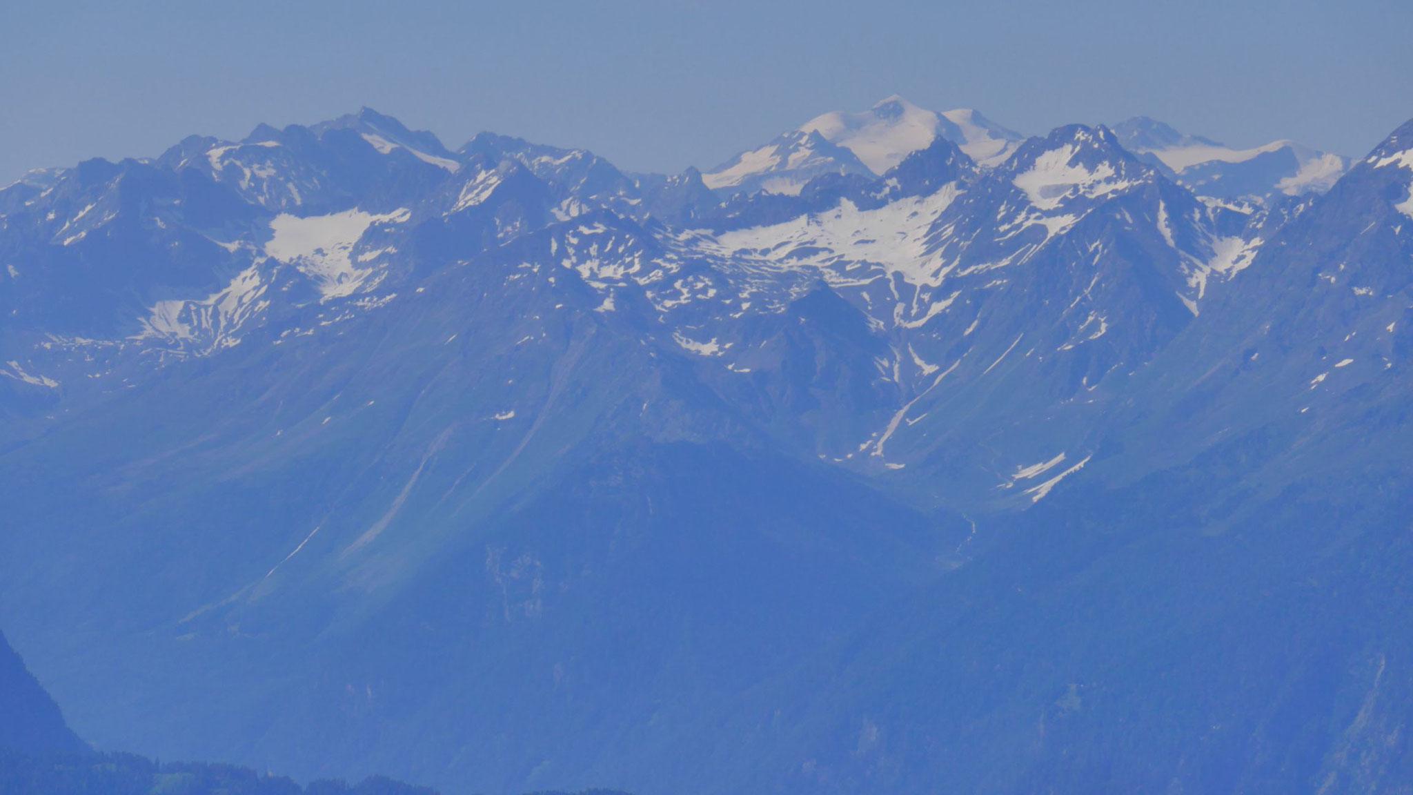 Wildspitze halbrechts, Hohe Geige links