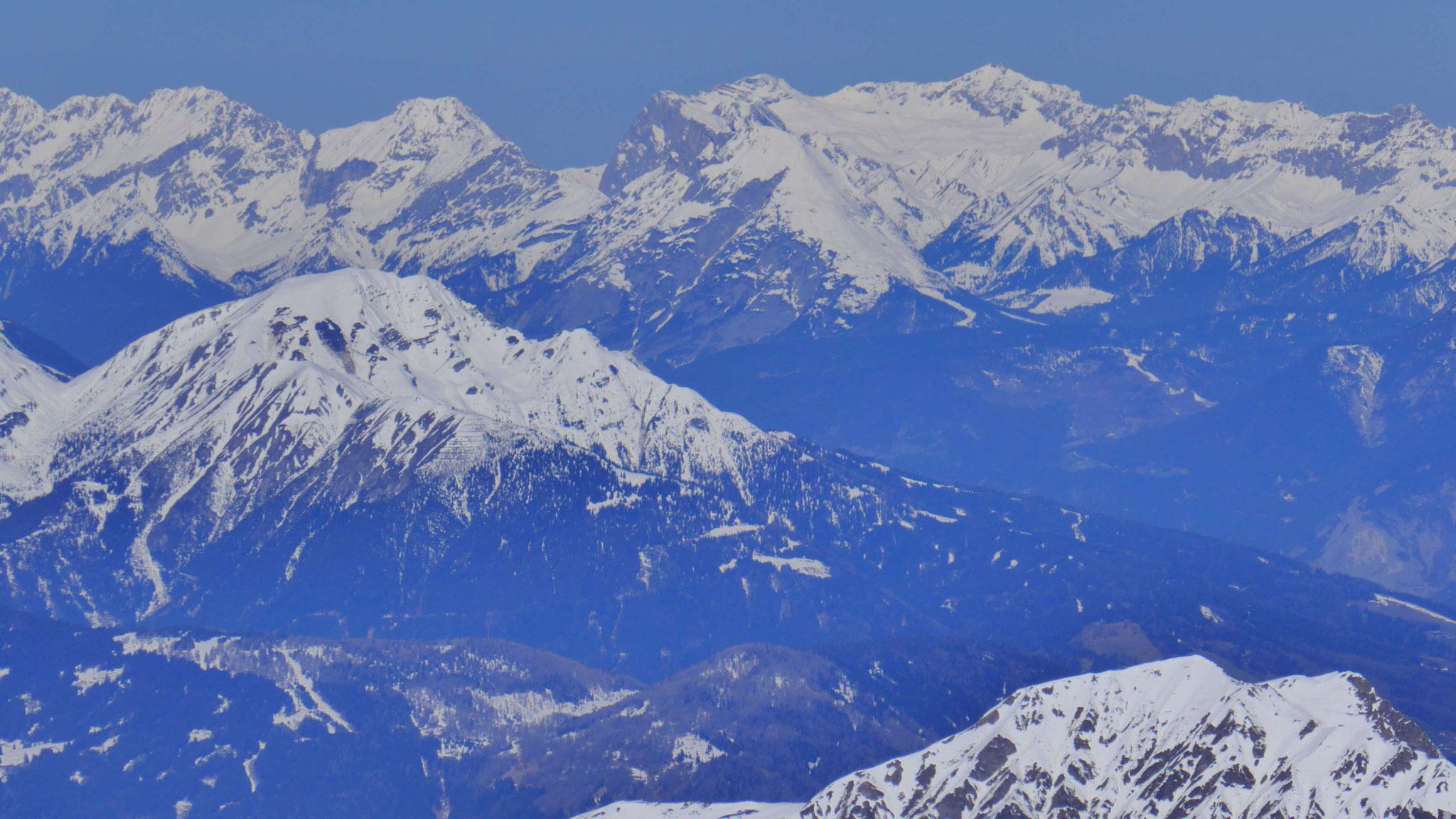 Nockspitze vor Munde und Zugspitze
