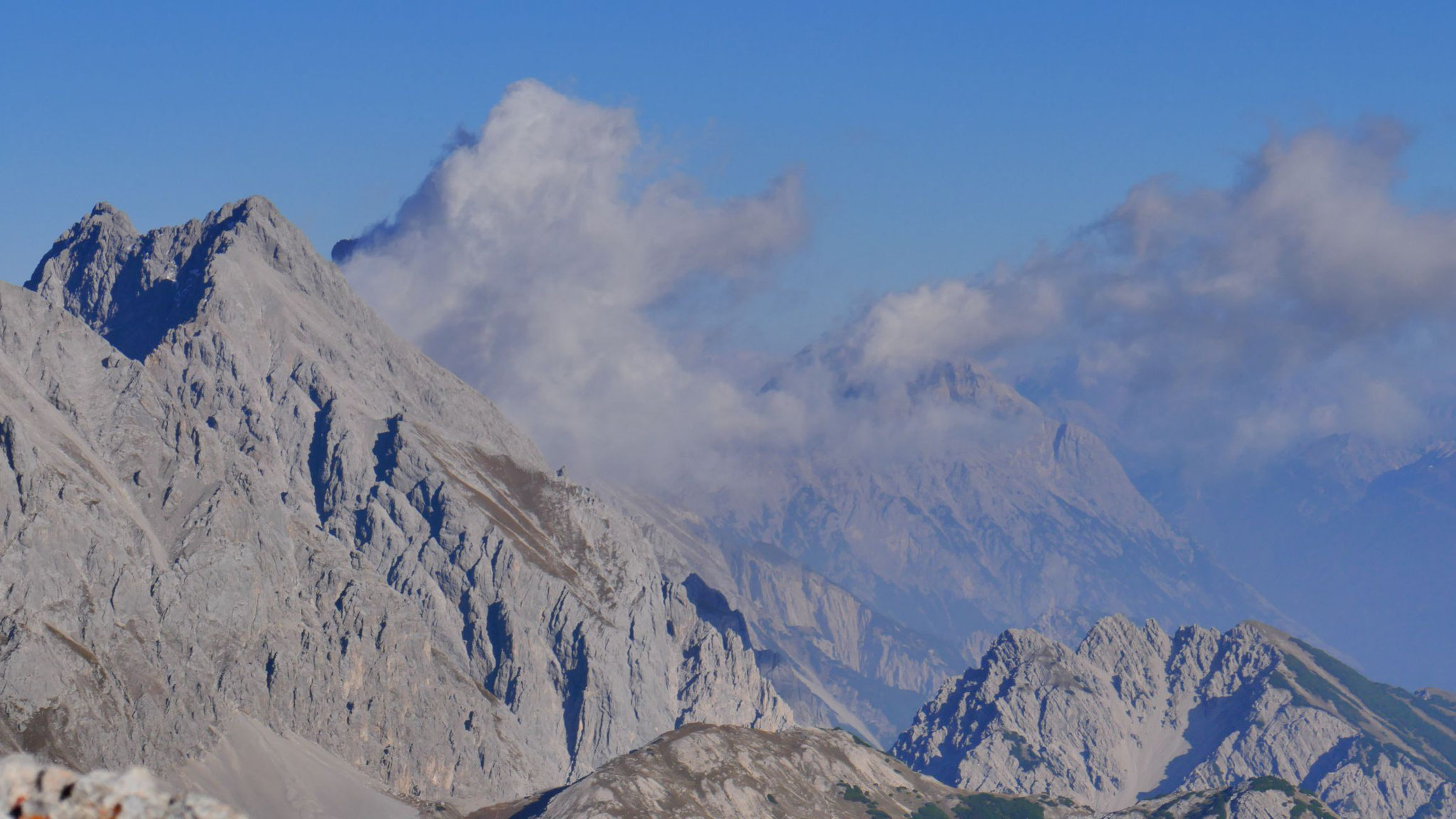 Griesspitzen, Wankspitze und im Hintergrund Hohe Munde