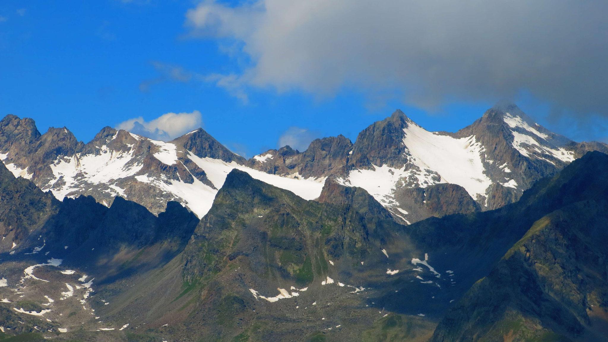 Lisener Spitze und Fernerkogel, im Vordergrund Rinnenspitze