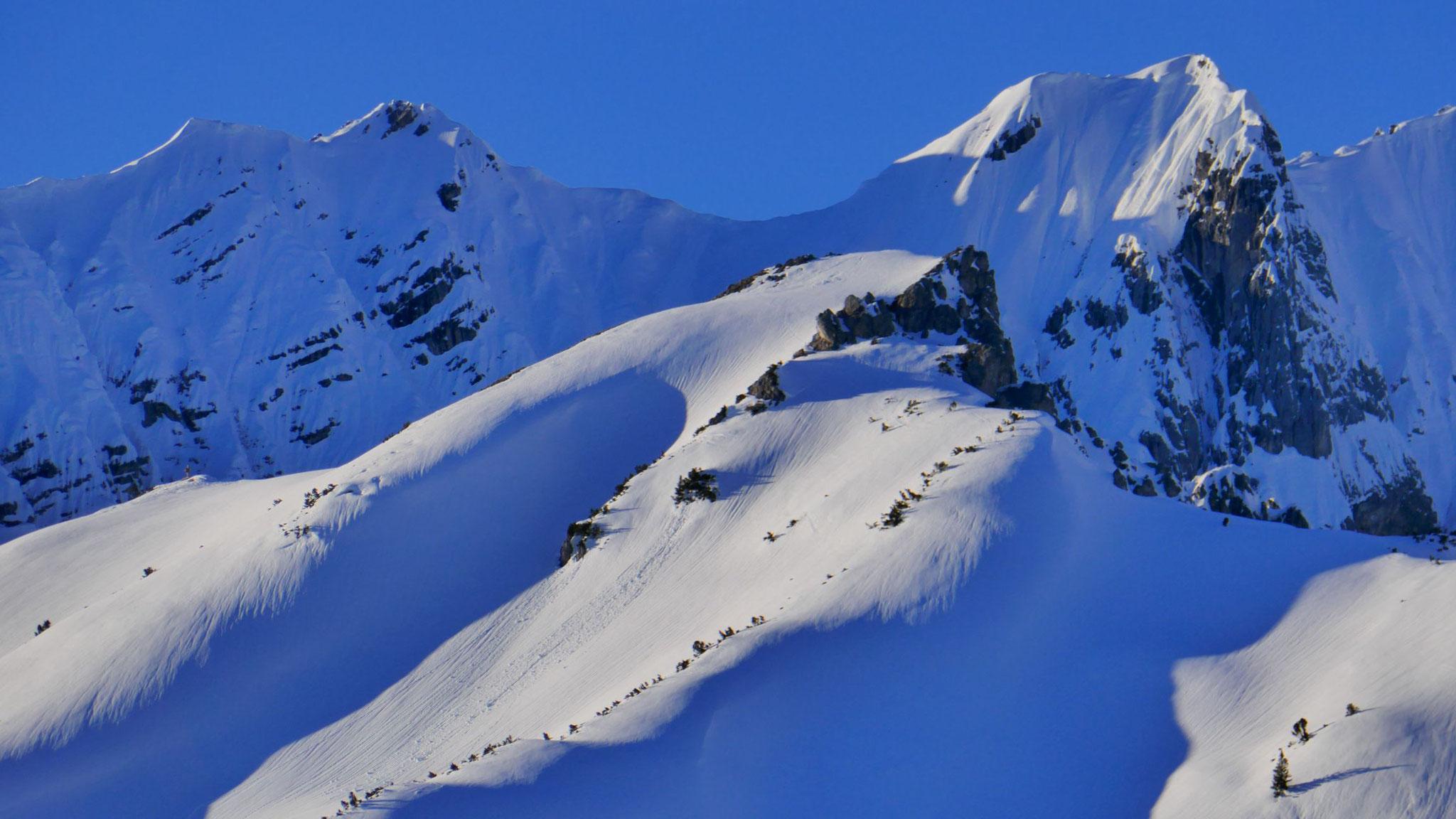 Wildangerspitze vor Stempeljochspitze & Rosskopf