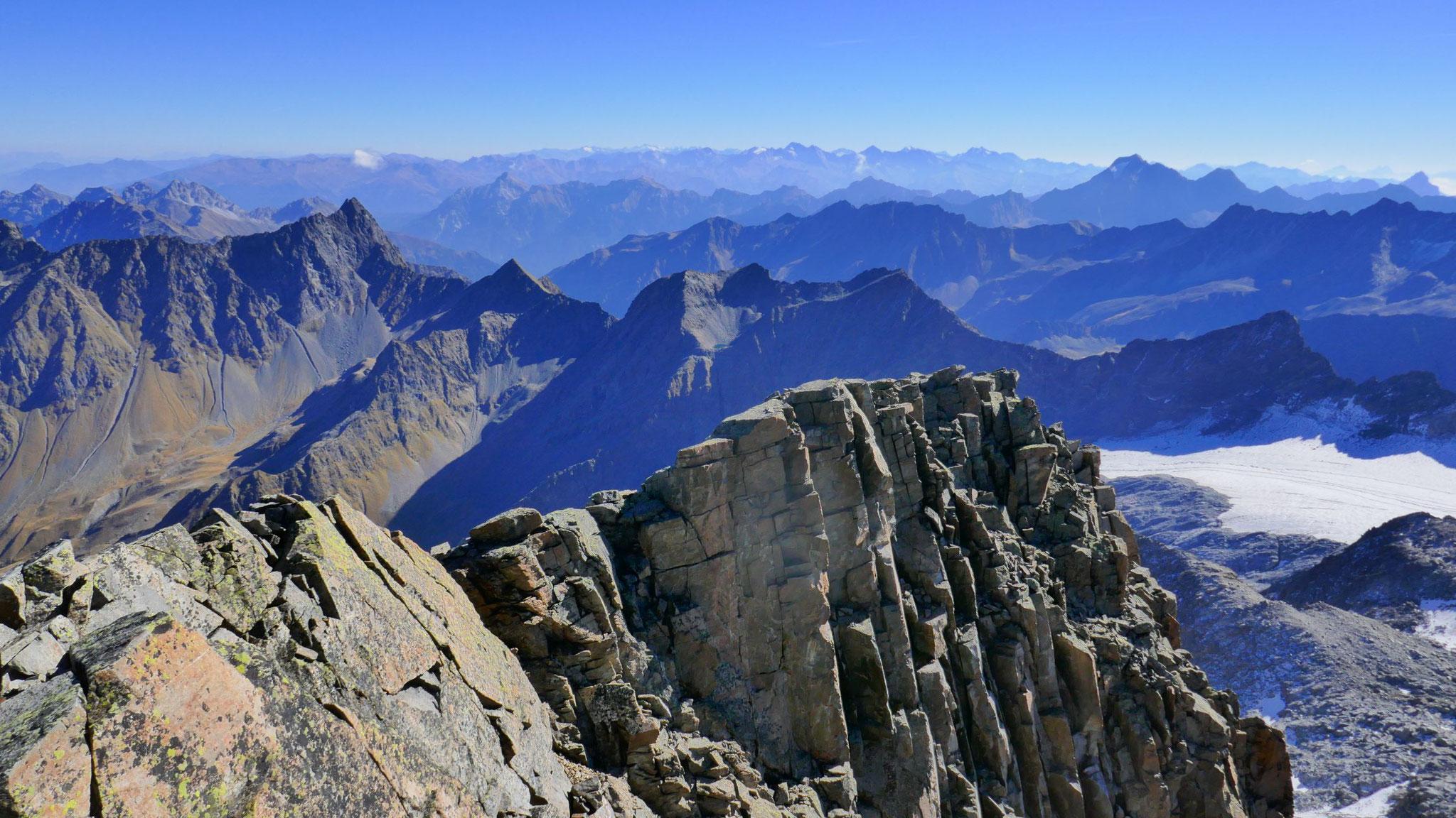 Nach Osten bis in die Zillertaler Alpen