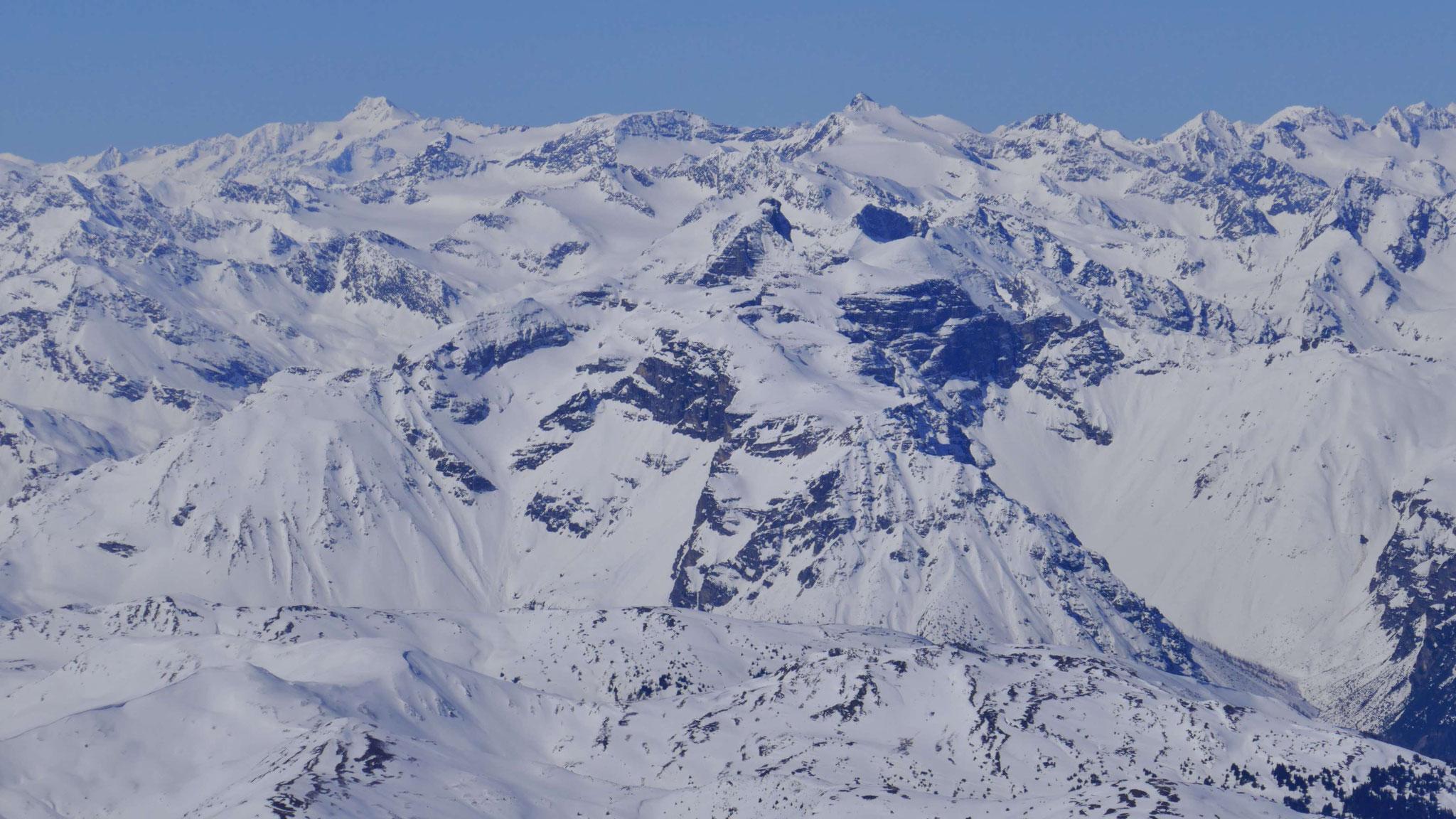 Tribulaune, Freiger und Zuckerhütl inmitten der südlichen Stubaier Alpen