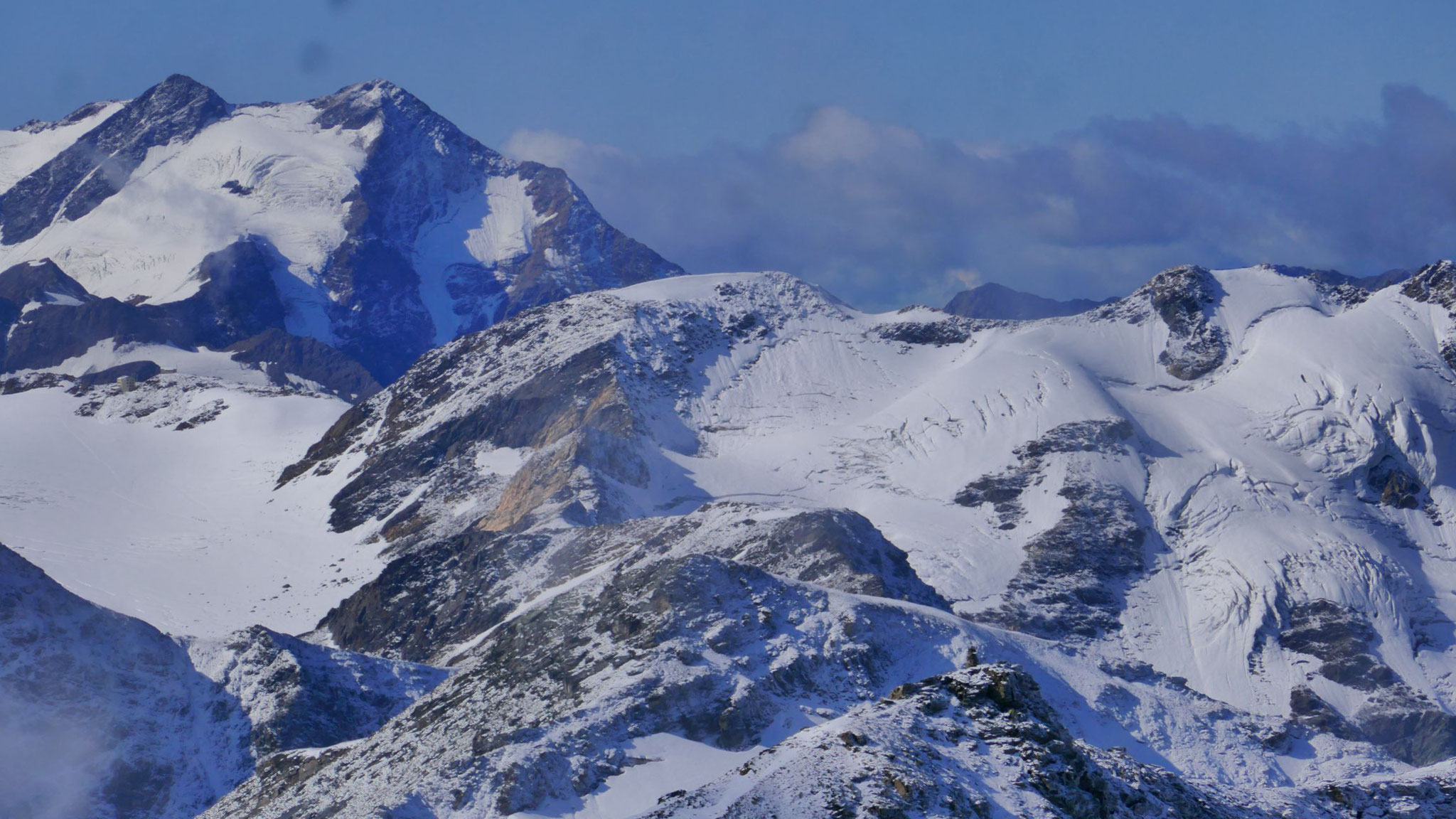 Links Pizzo Tresero, davor Butzen-, Madritsch- und Innere Pederspitze